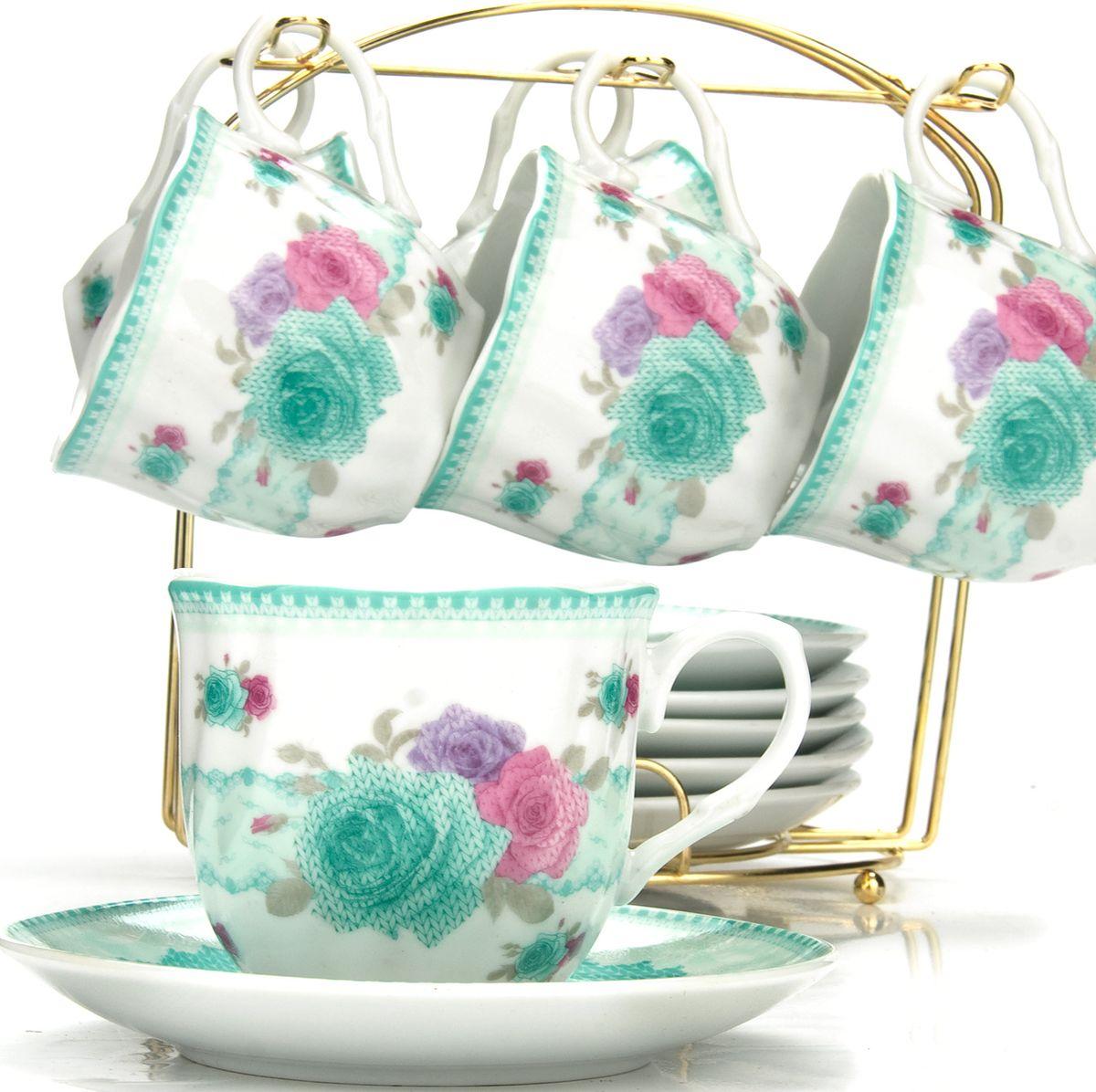Сервиз чайный Loraine, на подставке, 13 предметов. 4328225938