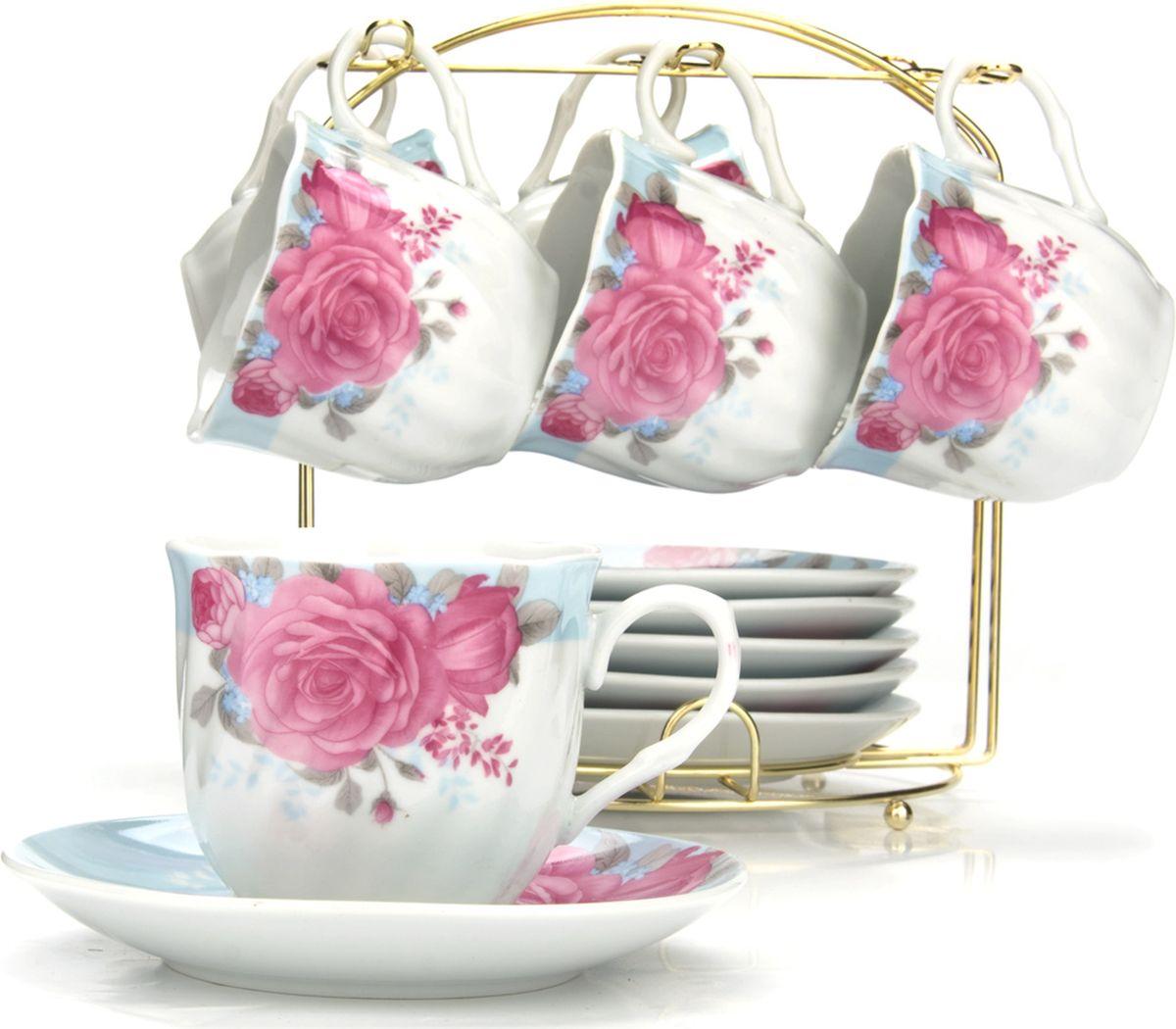 Сервиз чайный Loraine, на подставке, 13 предметов. 4328325939