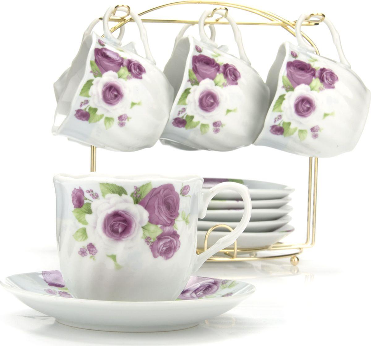 Сервиз чайный Loraine, на подставке, 13 предметов. 4328425940