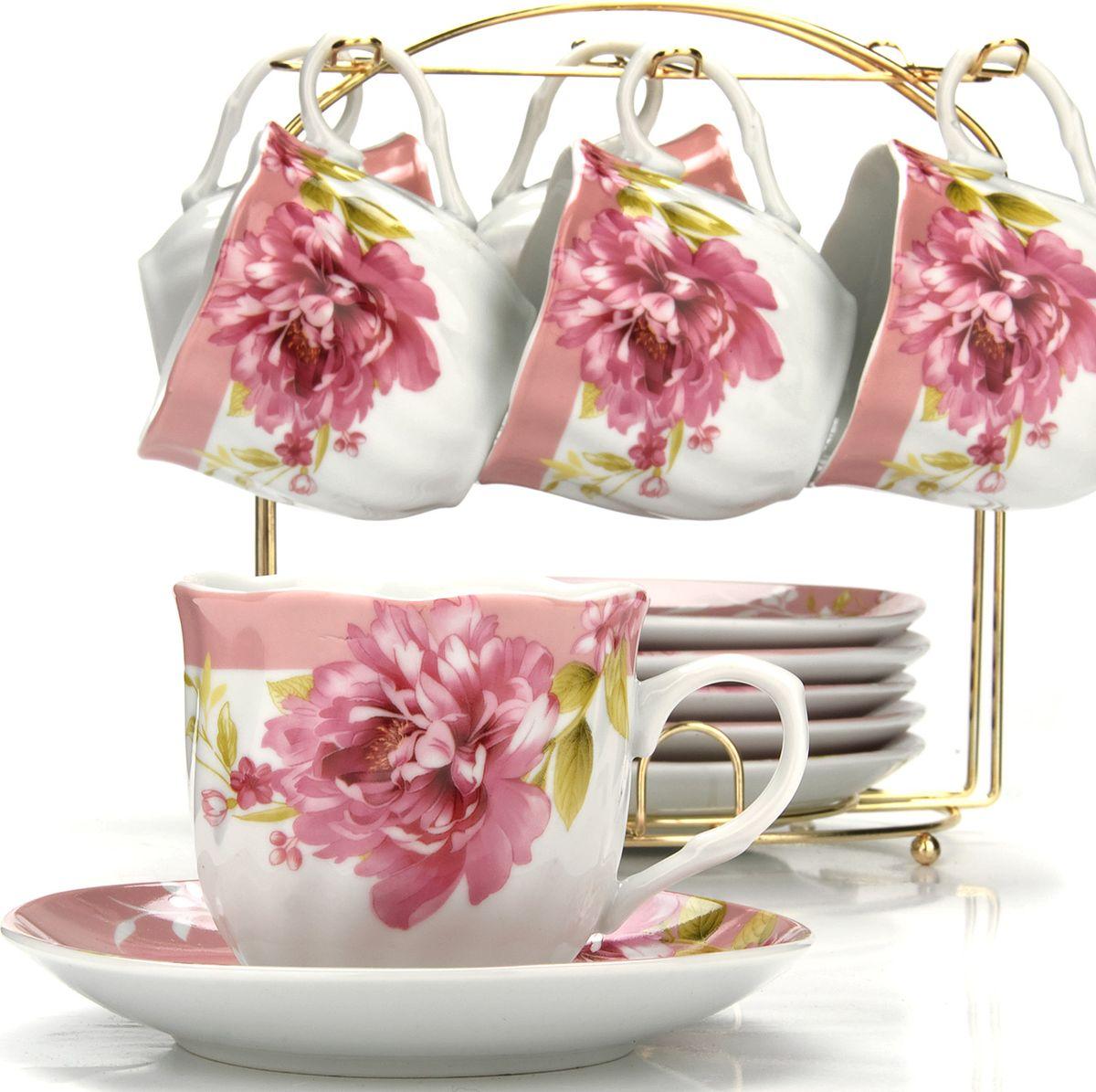Сервиз чайный Loraine, на подставке, 13 предметов. 4328525941