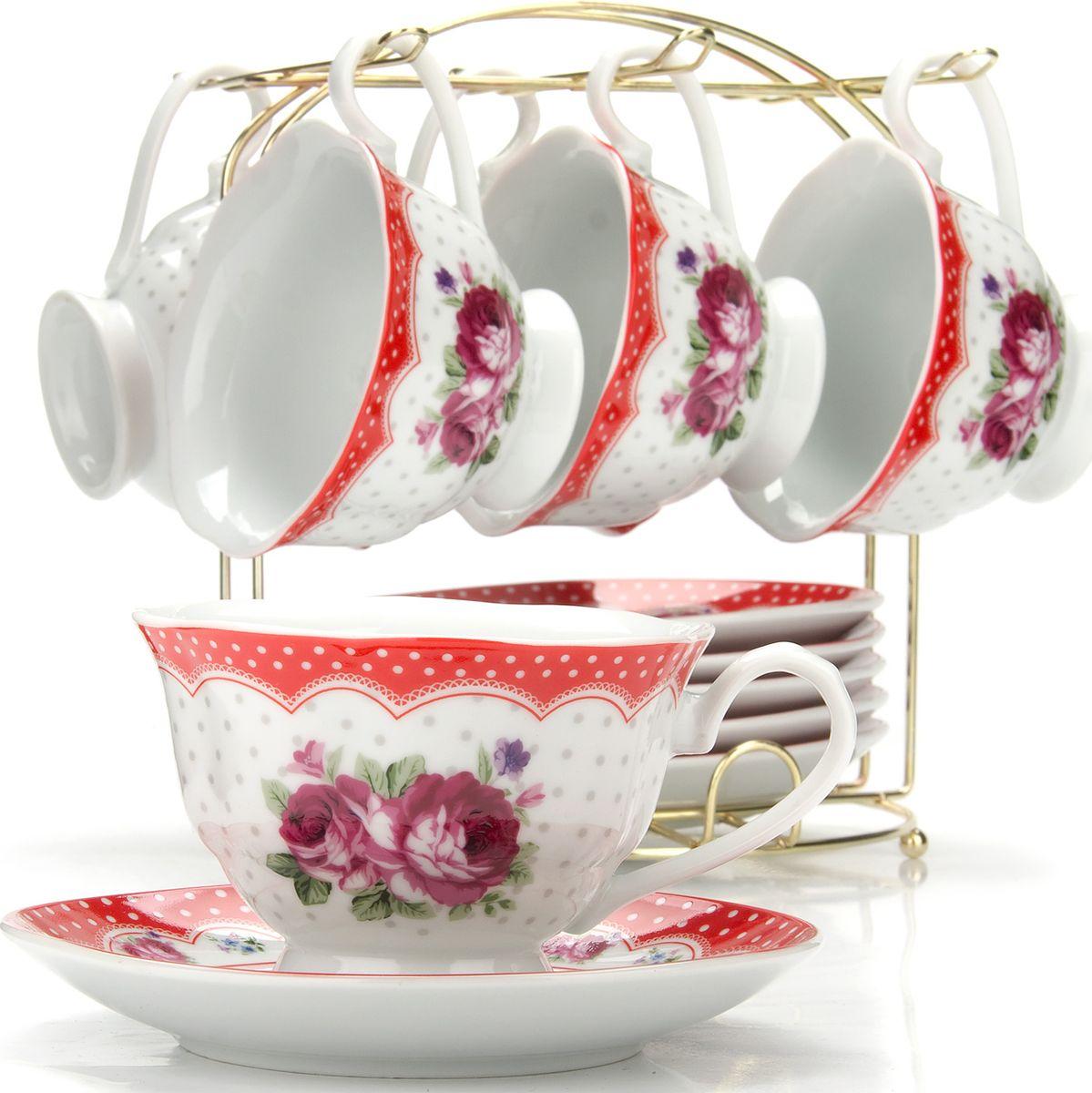Сервиз чайный Loraine, на подставке, 13 предметов. 4329225943