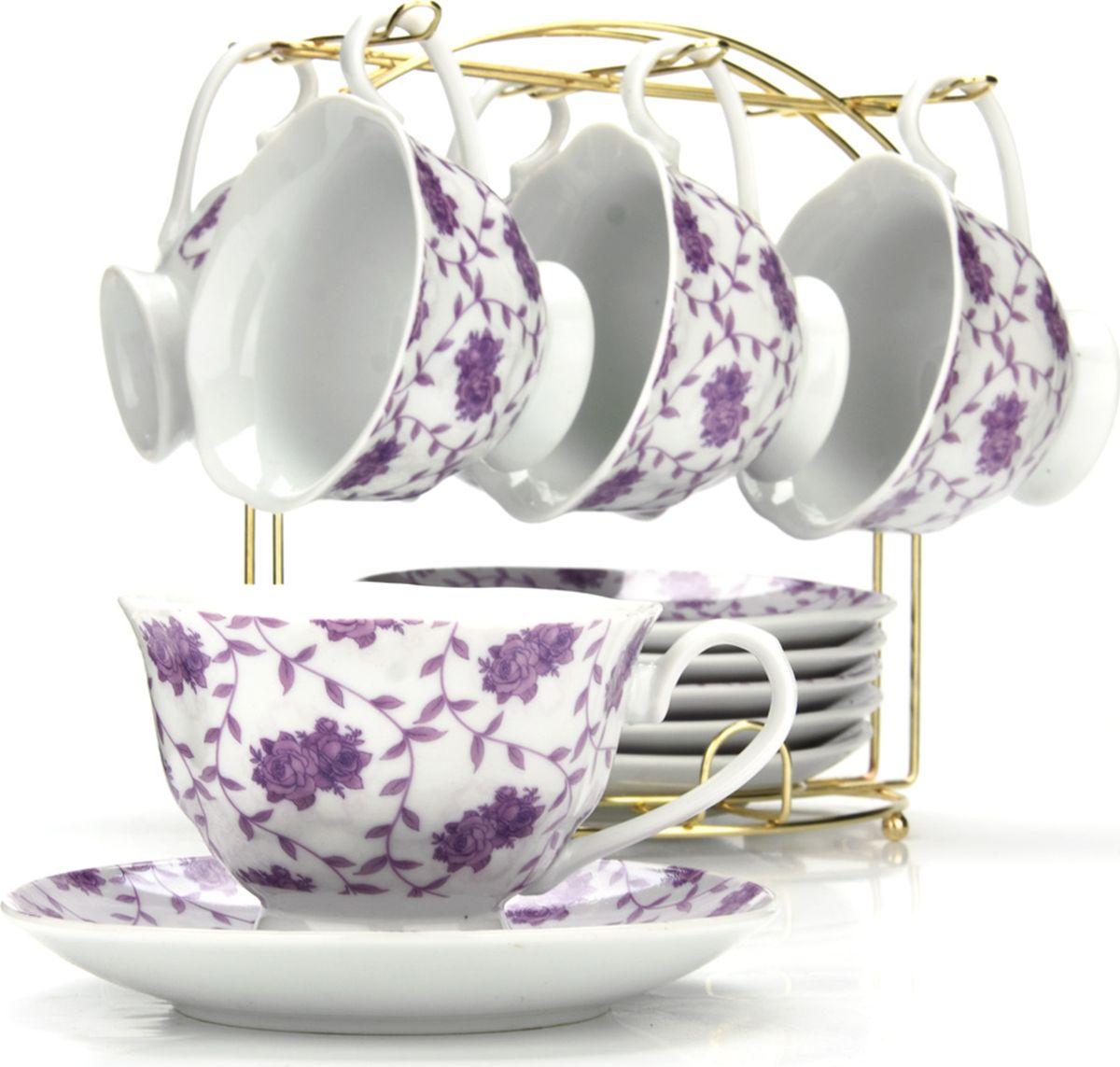 Сервиз чайный Loraine, на подставке, 13 предметов. 4329325944
