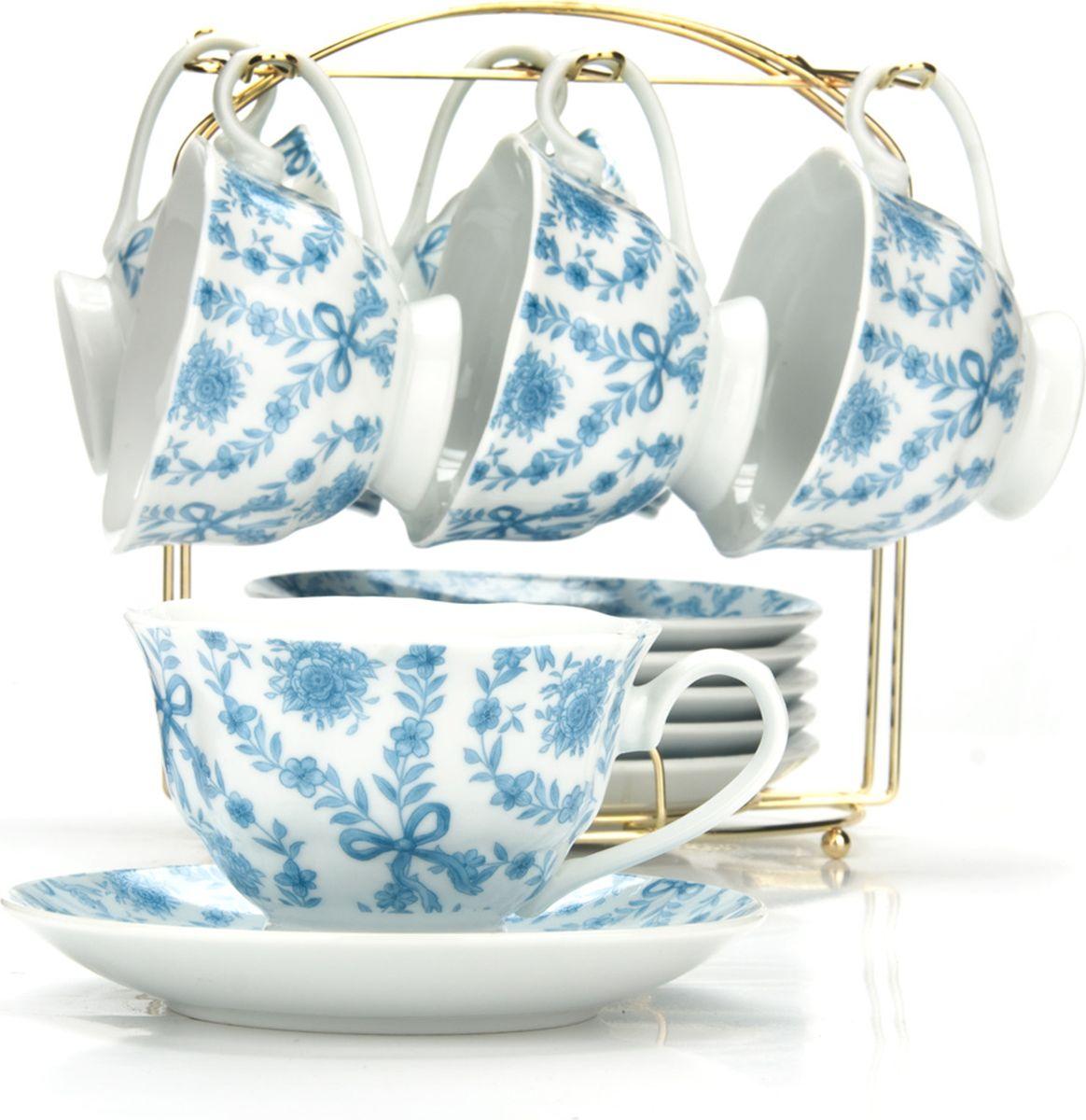 Сервиз чайный Loraine, на подставке, 13 предметов. 4329425945