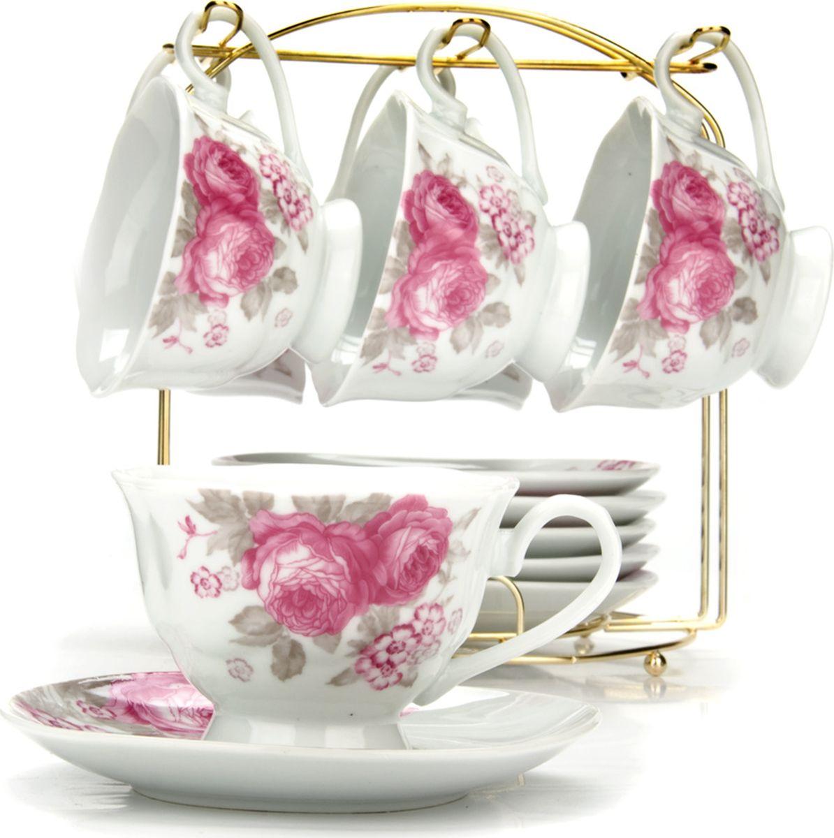 Сервиз чайный Loraine, на подставке, 13 предметов. 4329525946