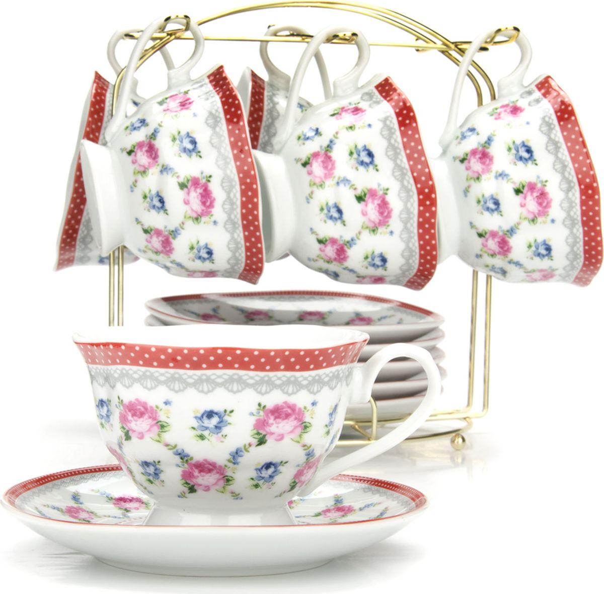 Сервиз чайный Loraine, на подставке, 13 предметов. 4329625947