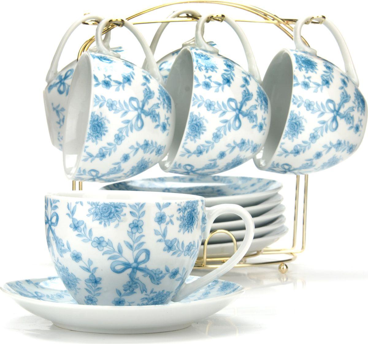Сервиз чайный Loraine, на подставке, 13 предметов. 4328725949