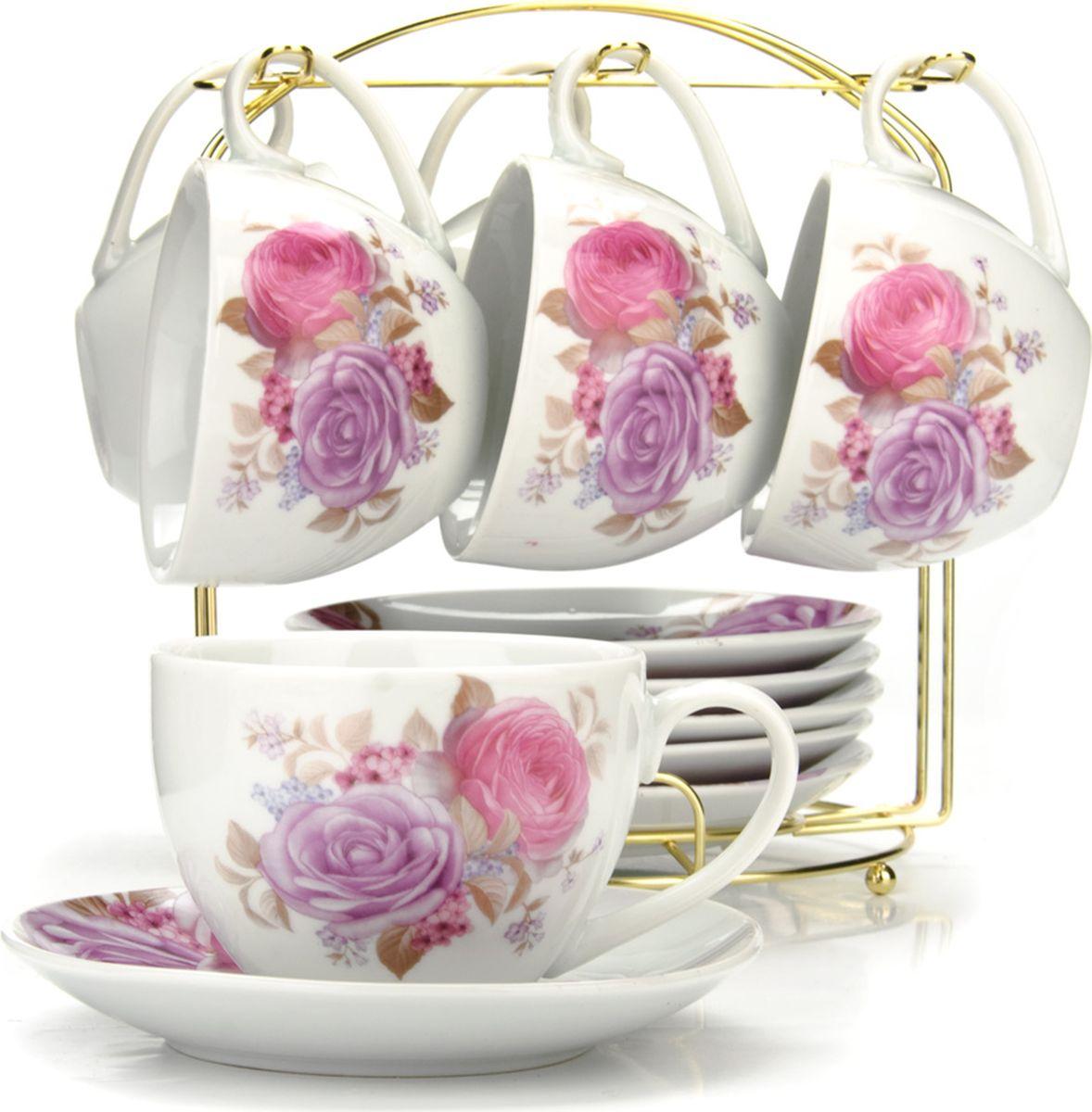Сервиз чайный Loraine, на подставке, 13 предметов. 4328925953