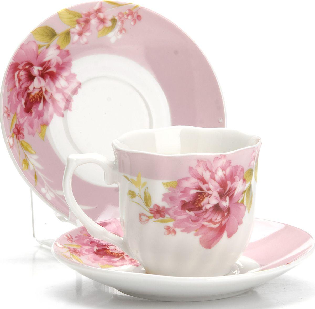 Набор кофейный Loraine, 12 предметов. 4333325961Кофейный набор Loraine состоит из 6 чашек и 6 блюдец. Изделия выполнены из высококачественного костяного фарфора и декорированы цветочным рисунком. Такой набор станет прекрасным украшением стола и порадует гостей изысканным дизайном и утонченностью. Набор упакован в подарочную коробку, задрапированную внутри белой атласной тканью. Объем чашки: 80 мл. Диаметр чашки (по верхнему краю): 6 см. Высота чашки: 5,5 см. Диаметр блюдца (по верхнему краю): 11 см. Высота блюдца: 1,5 см.