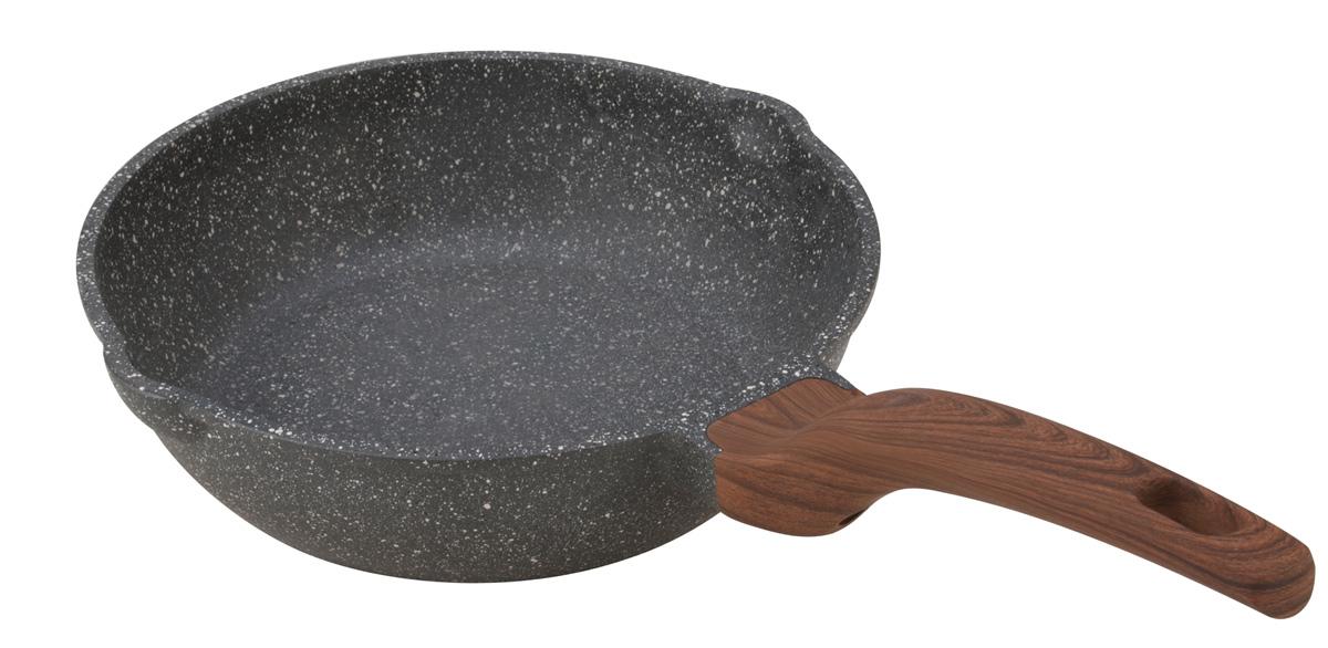 Сковорода глубокая Fissman Dakjjim, с антипригарным покрытием. Диаметр 24 смAL-4427.241 слой улучшает сцепление покрытия с металлом, 2 слой – грунтовый, 3 слой - более прочное покрытие на основе минеральных компонентов, 4 слой – высокопрочное антипригарное покрытие, усиленное вкраплением каменных частиц, 5 дополнительный антипригарный слой с керамическими частицами. Высота стенок: 7 см.