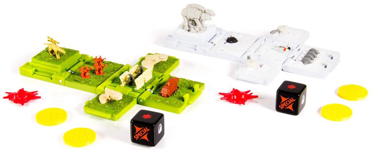 Star Wars Боевые кубики Battle of Naboo & Battle of Yavin52101_белый, зеленыйБоевые кубики Star Wars Battle of Naboo & Battle of Yavin - новый уникальный продукт, который придется по душе любому фанату саги Звездные войны: боевой кубик-трансформер. В сложенном состоянии это компактный кубик высотой 4 сантиметра, но стоит его раскрыть и у вас на столе окажется поле для стратегической игры в антураже любимой вселенной. В набор входят 2 различных кубика, которые позволят воспроизвести все любимые моменты из фильмов.