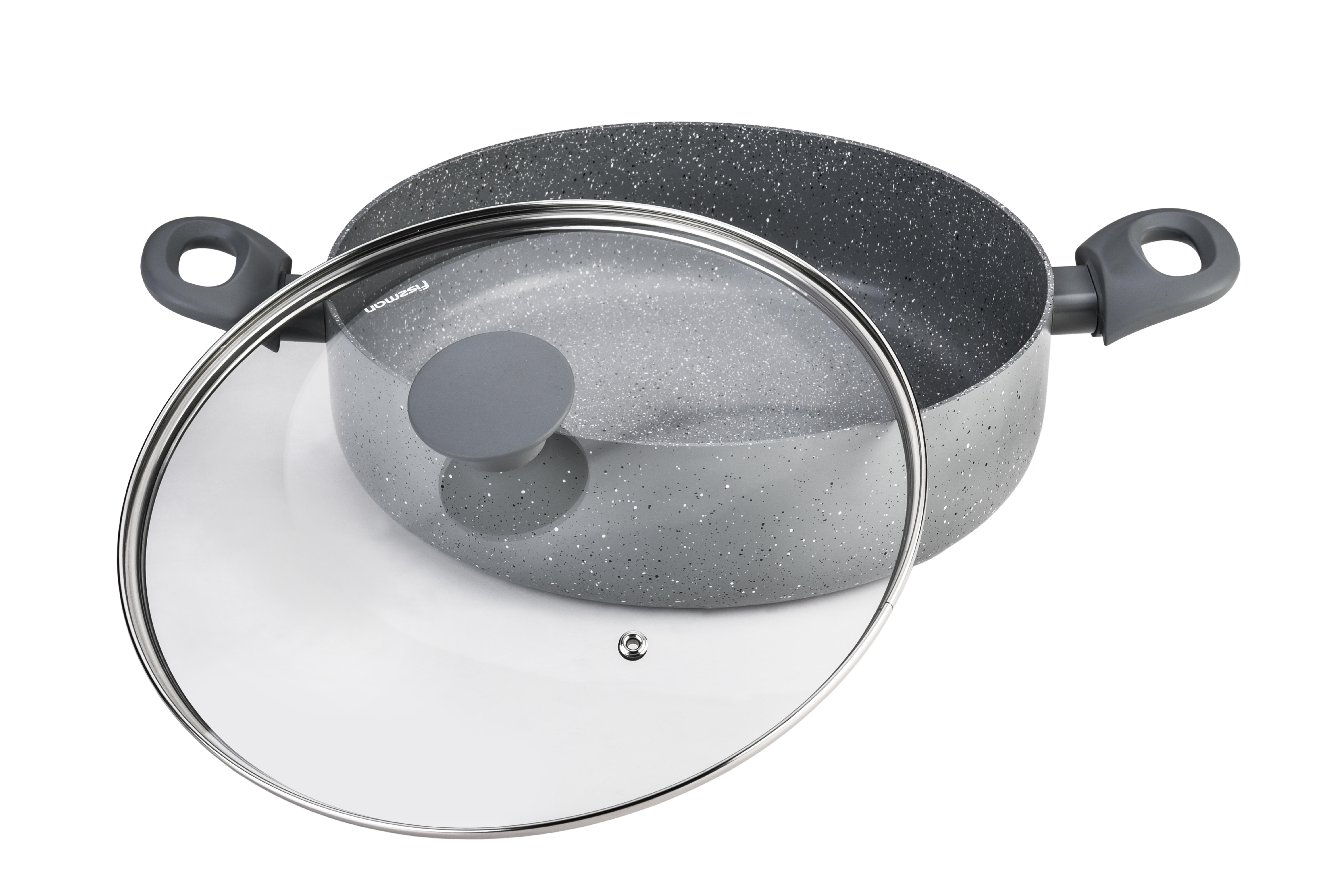Сотейник Fissman Garda с крышкой, с антипригарным покрытием. Диаметр 24 смAL-4471.241 слой улучшает сцепление покрытия с металлом, 2 слой – грунтовый, 3 слой - высокопрочное антипригарное покрытие, усиленное натуральной каменной крошкой на основе минеральных компонентов, 4 дополнительный антипригарный слой с керамическими частицами. Высота стенок: 6,5 см.