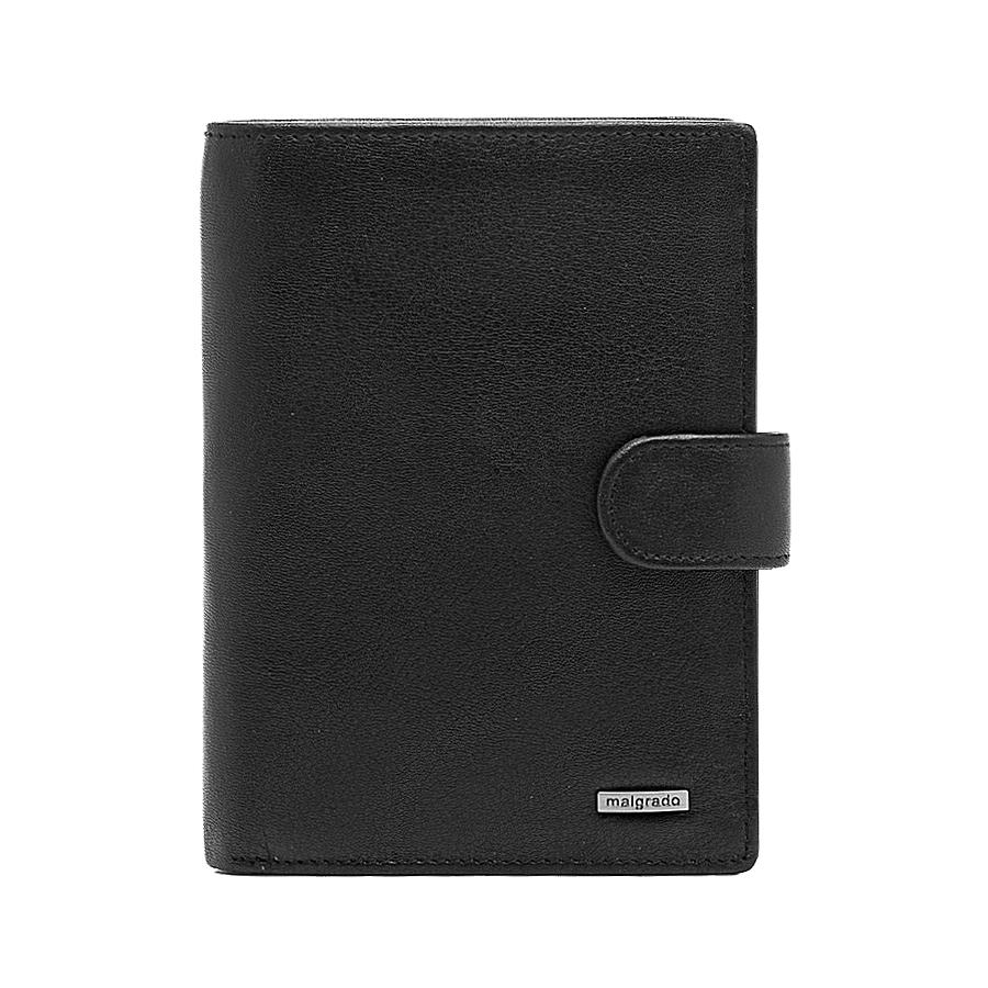 Портмоне Malgrado, цвет: черный. 54006-3-55D54006-3-55DУниверсальное портмоне для документов Malgrado изготовлено из натуральной кожи черного цвета. Внутри содержит отдел для комплекта автодокументов, отдел для купюр. Имеет пятнадцать отделений для визиток, кредиток и карточек, пластиковый карман для проездного, пропуска или фотографии. Закрывается портмоне хлястиком на кнопке. Такое портмоне станет замечательным подарком человеку, ценящему качественные и практичные вещи. Характеристики: Материал: натуральная кожа, пластик. Размер портмоне: 14 см х 10,5 см х 3 см. Цвет: черный. Размер упаковки: 15,5 см х 11,5 см х 3,5 см. Артикул: 54006-3-55D.
