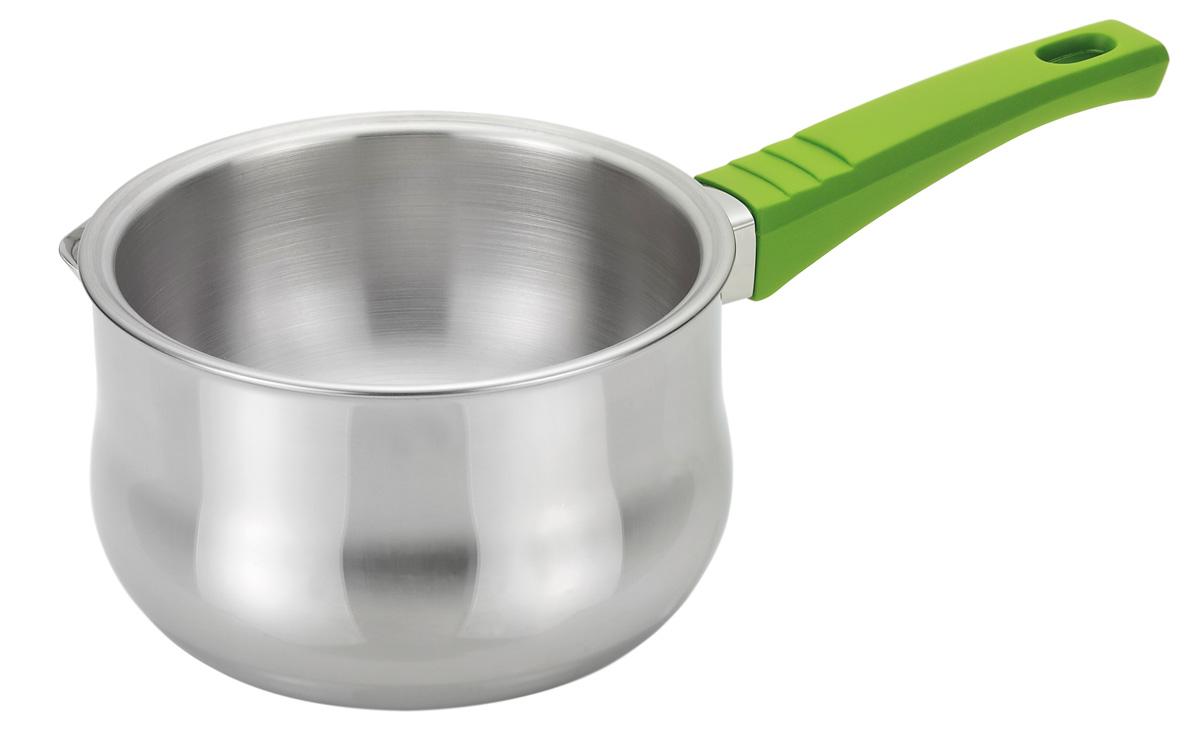 Ковш для создания водяной бани Fissman, 850 млSS-5102.16Ковш для создания водяной бани Fissman изготовлен из нержавеющей стали 18/10 высокого качества. Ковш имеет двойные стенки для создания водяной бани. Очень часто в рецептах встречается указание, что ингредиенты должны быть приготовлены на водяной бане. Таким способом удобно кипятить молоко и варить кашу, разогревать детское питание, растапливать шоколад и мед, готовить различные соусы, кремы, заварное тесто и даже заваривать настои из лечебных трав. Использование двух различных сосудов (первый - для воды, а второй - для продуктов) - довольно некомфортный процесс. Поэтому компания Fissman позаботилась о том, чтобы процесс готовки стал приятным и необременительным занятием. Через отверстие в полость между стенками заливается вода, во внутреннюю емкость кладется продукт, ковш ставится на плиту. В процессе кипения вода равномерно нагревает ингредиенты, а температура нагрева не превышает температуру кипения воды 100°С. При этом исключено ...
