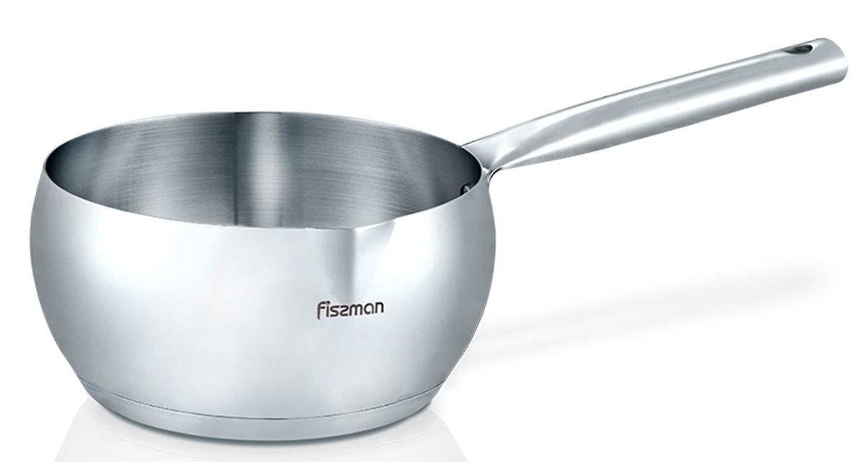 Ковш Fissman Diana, 700 млSS-5145.12Ковш Fissman Diana изготовлен из нержавеющей стали 18/10 высокого качества, которая противостоит окислению. При длительном использовании сохраняет свою прочность, не деформируется, не меняет свой внешний вид, легко чистится. Утолщенное термоаккумулирующее трехслойное дно c алюминиевой сердцевиной обеспечивает оптимальный равномерный нагрев и распределение энергии. А благодаря эффекту удержания тепла, пища доходит после снятия посуды с плиты. Ковш имеет удобный носик для переливания жидкостей и ручку с отверстием для подвешивания на крючок. Ковш Diana станет незаменимым помощником на вашей кухне. Подходит для газовых, электрических, стеклокерамических, индукционных плит. Можно мыть в посудомоечной машине. Высота стенок: 6 см. Длина ручки: 17 см.