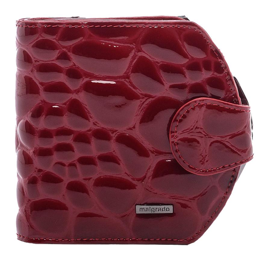 Кошелек женский Malgrado, цвет: бордовый. 41007-1B-3840241007-1B-38402Стильный кошелек Malgrado изготовлен из натуральной кожи высшего качества c тиснением под крокодила. Внутри два глубоких кармана для купюр, три кармашка для визиток, один пластиковый кармашек для фото. Сзади расположен карман на защелке для мелочи. Кошелек закрывается хлястиком на кнопку. Кошелек упакован в коробку из плотного картона с логотипом фирмы. Такой кошелек станет замечательным подарком человеку, ценящему качественные и практичные вещи.