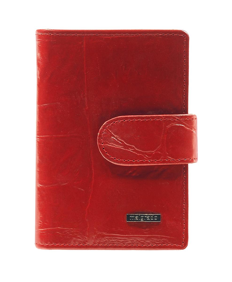 Визитница Malgrado, цвет: красный. 42003-2910242003-29102Стильная визитница Malgrado с веерным открытием изготовлена из натуральной кожи с тиснением под рептилию. Внутри содержит прозрачный вкладыш с двадцатью отделениями для кредитных и дисконтных карт. На боковых стенках имеются два дополнительных отделения для пропуска и карт. Закрывается визитница на клапан, на одну из двух кнопок. Такая визитница станет замечательным подарком человеку, ценящему качественные и практичные вещи.