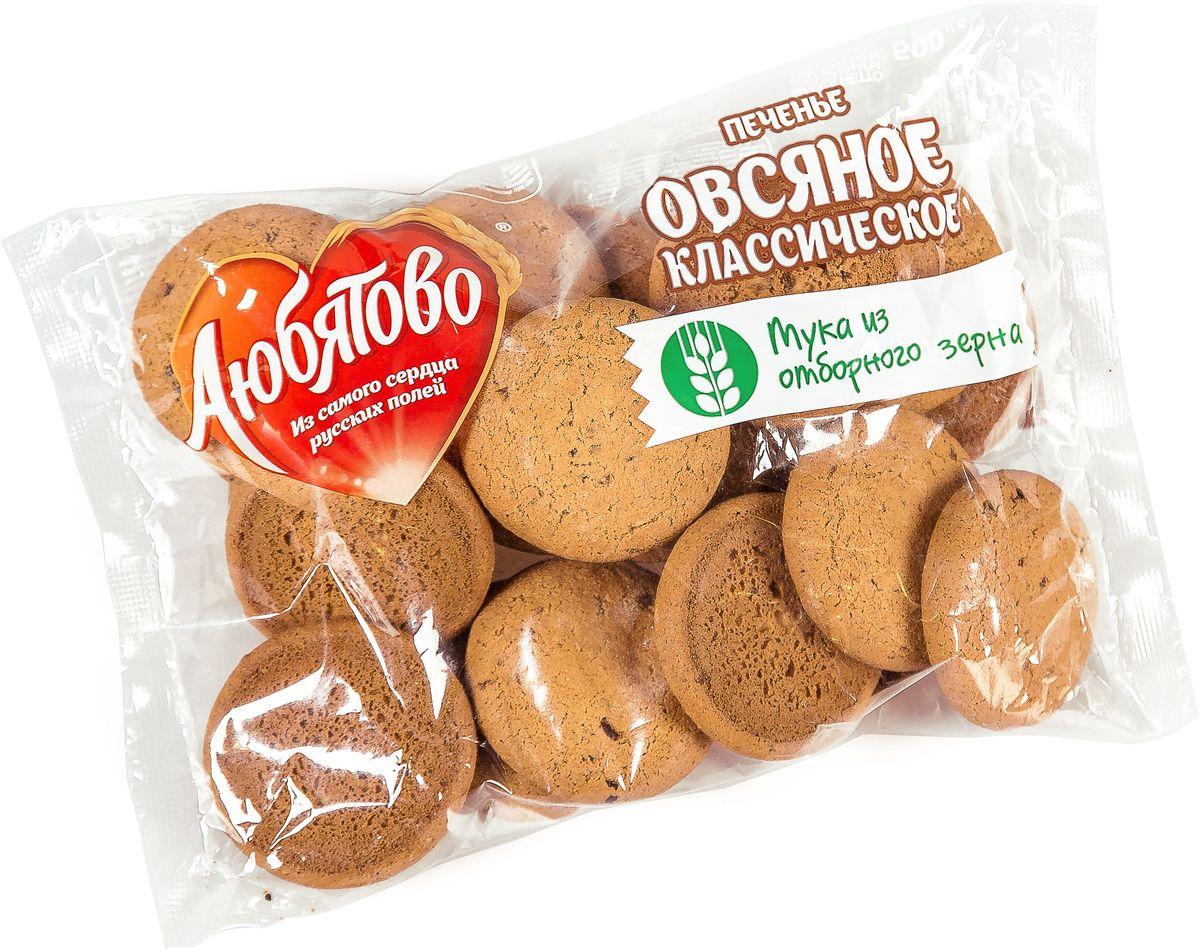Любятово печенье овсяное классическое традиционное, 500 г