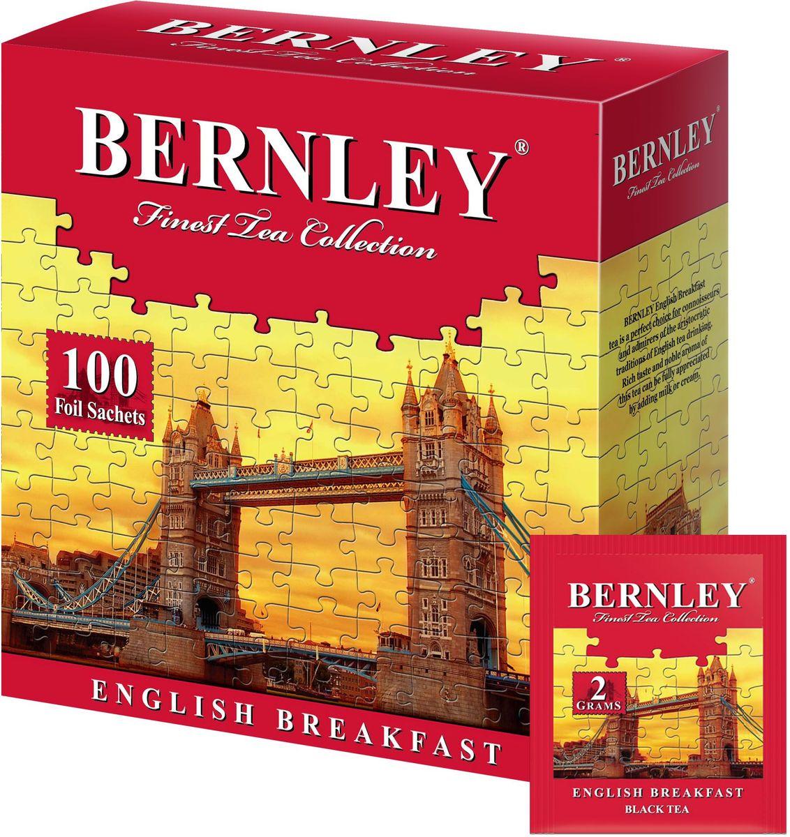 Bernley English Breakfast чай черный байховый мелкий в пакетиках, 100 шт1070128Bernley English Breakfast в конвертах - высокогорный черный чай для традиционного английского чаепития.