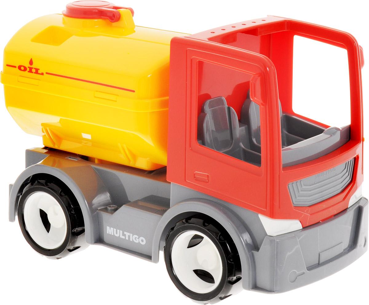 MultiGo Грузовик с цистерной и сменным кузовом27052Грузовик MultiGO с двумя сменными грузовыми платформами – это все, что необходимо для проведения увлекательной игры с ребенком. С его помощью можно доставить грузовик с топливом к заправочной станции для заправки, также можно транспортировать любые грузы, используя дополнительный грузовой кузов. Благодаря системе MultiGO маленький любитель техники может самостоятельно вносить изменения в конструкцию транспорта, так как основа грузовика является базой, на которую можно добавлять любые игровые аксессуары данной серии. Кабина грузовика с открытой крышей, что позволяет с легкостью помещать в нее игровых персонажей. В комплекте: самосвал, кузов синего цвета и цистерна.
