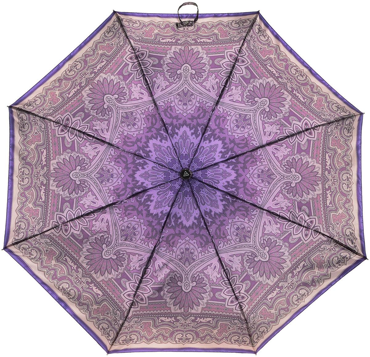Зонт женский Fabretti, цвет: серый. L-16113-6L-16113-6Женский зонт от итальянского бренда Fabretti. Значительным преимуществом данной модели является система антиветер, которая позволяет выдержать сильные порывы ветра. Материал купола – сатин. Он невероятно изящен, приятен на ощупь, обладает высокой прочностью, а также устойчив к выцветанию. Эргономичная ручка сделана из высококачественного пластика-полиуретана с противоскользящей обработкой.
