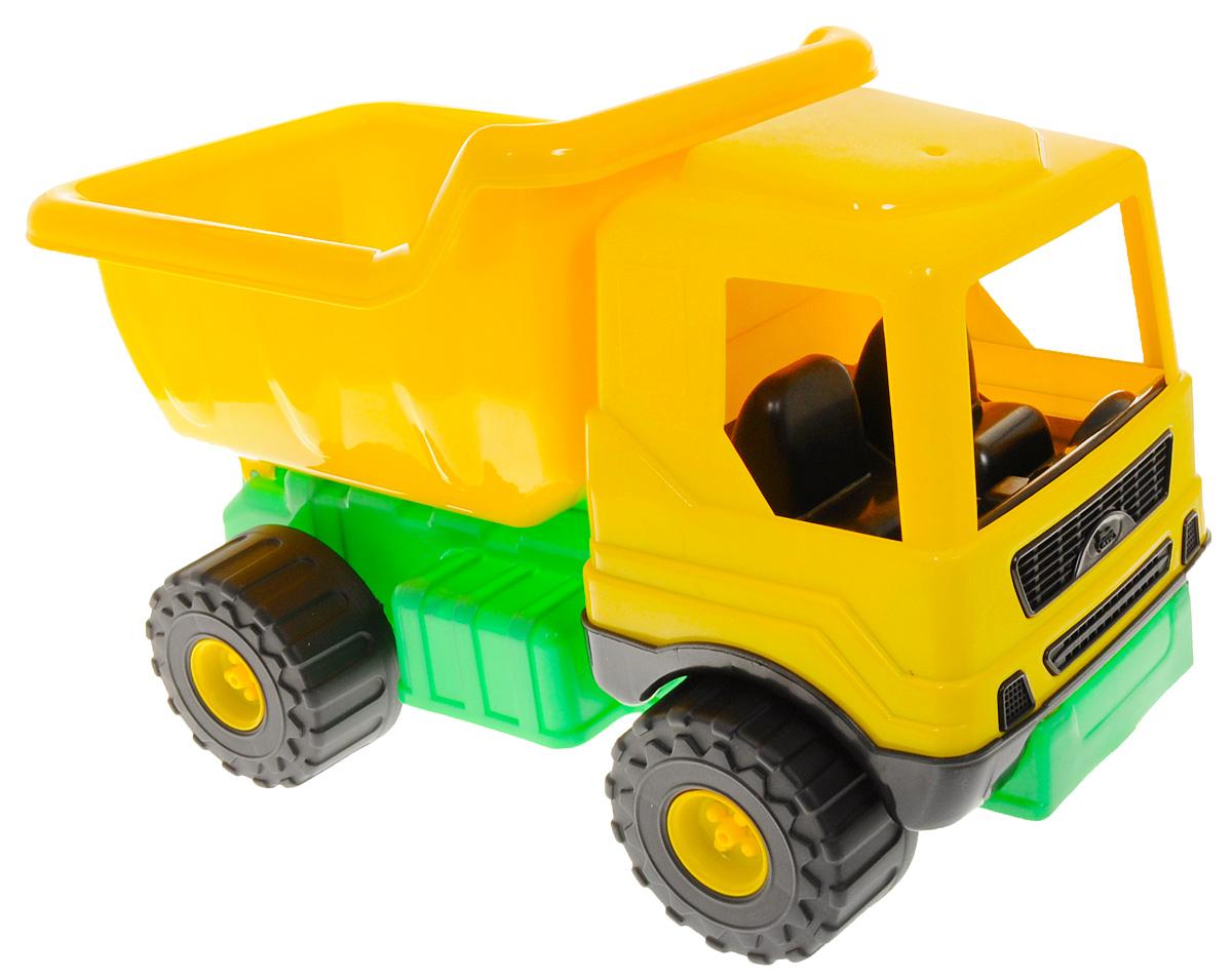 AVC Грузовик цвет желтый зеленый01/5163 _желтый, зеленыйЯркий грузовик AVC понравится вашему мальчику, ведь с такой машиной можно играть не только дома или катать во дворе, но она станет незаменимым помощником в строительстве песчаных дорог и замков. Игрушечный грузовик имеет большие колеса со свободным ходом, просторную кабину, кузов машины поднимается и опускается. Материал, использованный при изготовлении столь чудной машинки, не имеет токсичных веществ, а значит не вызовет проблем со здоровьем. Такой подарок доставит малышу множество увлекательных часов.