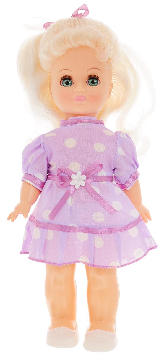 Весна Кукла озвученная Наталья цвет одежды фиолетовый белыйВ645/оКрасивая кукла Весна Наталья со звуковым модулем и закрывающимися глазами понравится любой девочке. Наталья одета в летнее платье и туфельки. Элементы одежды легко снимаются и одеваются. У куклы длинные светлые волосы. Стоит нажать на спинку, как она сразу произносит разнообразные фразы. С такой игрушкой сюжетно-ролевые игры станут еще более интересными. Фразы, которые произносит кукла: Мама, мама, Улыбнись!, Завяжи мне бантик, Хочу гулять, Есть хочу, Дай мне конфетку!, Расскажи сказку, Расскажи еще!, Хочу спать, Спокойной ночи!. Милая игрушка станет лучшей подружкой для девочки и научит ребенка доброте и заботе о других. Для работы игрушки рекомендуется докупить 3 батарейки LR44/AG13/СЦ357 (товар комплектуется демонстрационными).
