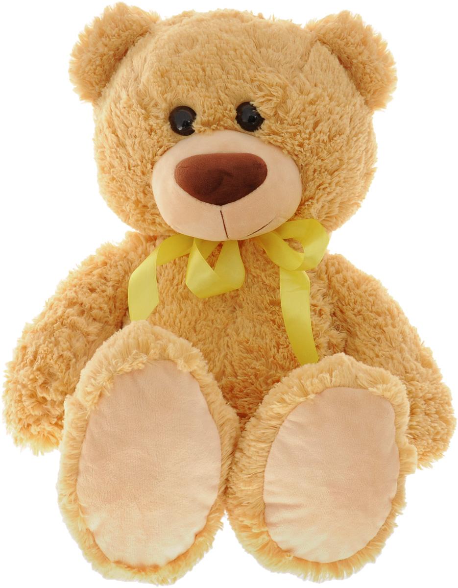СмолТойс Мягкая игрушка Мишка цвет бежевый 64 см1251/БЖ_бежевыйСимпатичная мягкая игрушка СмолТойс Мишка не оставит равнодушным ни ребенка, ни взрослого и вызовет улыбку у каждого, кто его увидит. Необычайно мягкий, он принесет радость и подарит своему обладателю мгновения нежных объятий и приятных воспоминаний. У медведя большие пластиковые глазки и коричневый носик. На шее повязан яркий желтый бантик. Игрушка удивительно приятна на ощупь, изготовлена из искусственного меха с набивкой из текстиля и полиэфира. Мягкая игрушка может стать милым подарком, а может быть и лучшим другом на все времена.