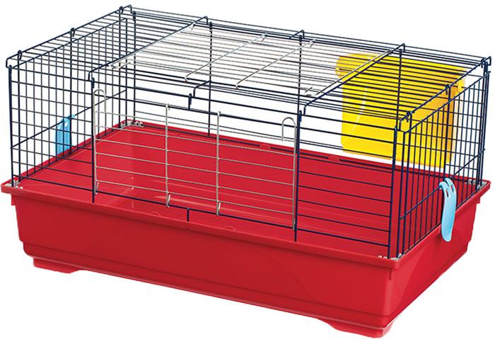 Клетка для грызунов Imac Easy 80, цвет: красный, темно-синий, желтый, 80 х 48,5 х 42 см8021799403669_красный, синийПросторная клетка Imac Imac Easy 80, выполненная из пластика и металла, подходит для средних и крупных грызунов. Изделие оборудовано сенником. Клетка имеет яркий поддон, удобна в использовании и легко чистится. Такая клетка станет уединенным личным пространством и уютным домиком для маленького грызуна.