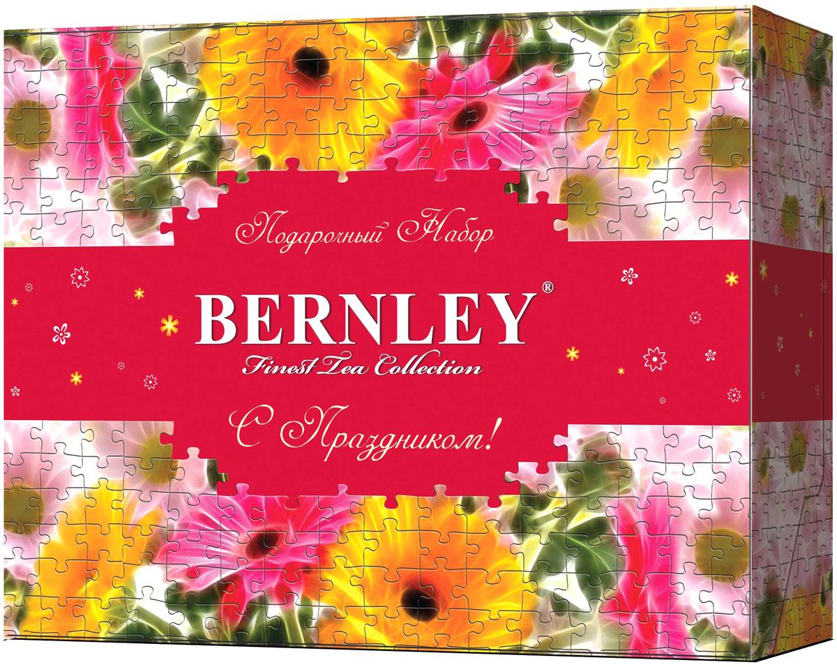 Bernley подарочный набор чая в пакетиках, 6 видов по 10 шт1070084Чайный набор Bernley состоит из 6 видов черного чая Bernley в метализированных конвертах - Инглиш Суприм, Инглиш Элегант, Эрл Грей, Инглиш Классик, Инглиш Брекфаст, Инглиш Премиум. Это прекрасный подарок к 8 марта!