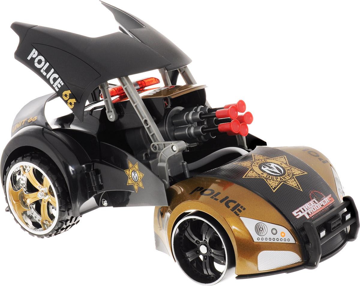 Maisto Машина на радиоуправлении Project 66 цвет коричневый черный81107 R/C_коричневый, черныйРадиоуправляемая машина-трансформер Project:66 от бренда Maisto - это увлекательная игрушка, которая станет необыкновенным подарком вашему мальчику! Помимо движения она умеет еще и стрелять! Кроме того, с помощью пульта дистанционного управления машина в одно мгновение превращается в грозного робота! Автомобиль стреляет уникальными ракетами на присосках, которые могут бить цель на расстоянии 2-х метров! С такой машинкой ваш ребенок никогда не заскучает, каждый раз придумывая новые захватывающие сюжеты для игр! Для работы игрушки необходимы 6 батарейки типа АА напряжением 1,5V (товар комплектуется демонстрационными). Для работы пульта управления необходима 1 батарейка типа Крона напряжением 9V (товар комплектуется демонстрационной).