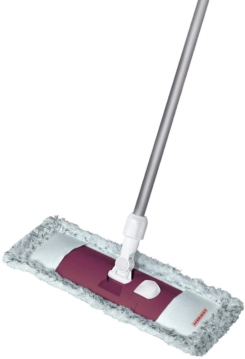Швабра Leifheit Classic Limited Editon, с телескопической ручкой, цвет: бордовый55219Швабра для пола Classic. Ширина рабочей поверхности6 42 см. Встроенный зажим для использования тканевых салфеток. Телескопическая ручка 75-130 см. Насадка из микроволокна.