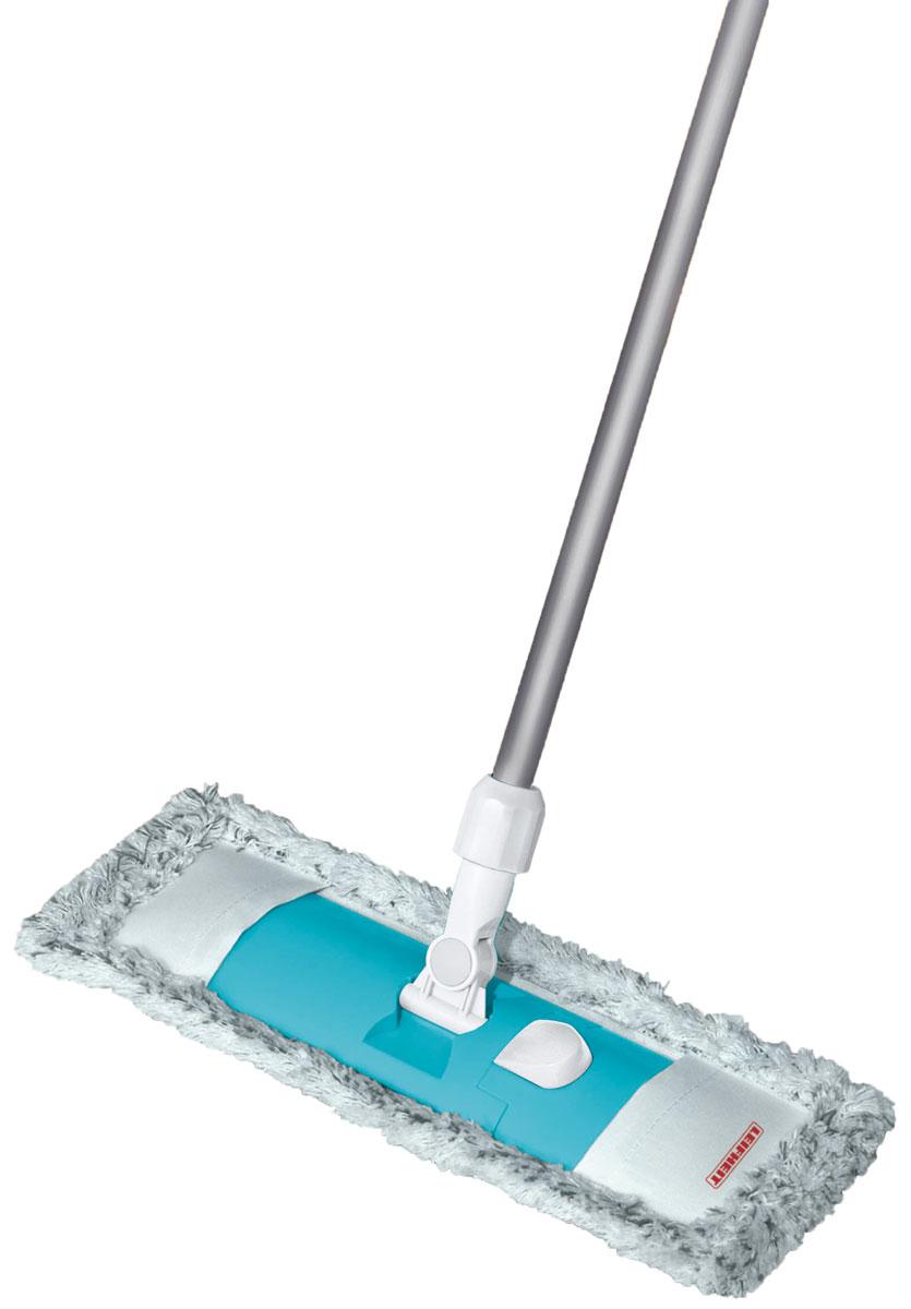 Швабра Leifheit Classic Limited Editon, с телескопической ручкой, цвет: голубой55219Швабра для пола Classic. Ширина рабочей поверхности6 42 см. Встроенный зажим для использования тканевых салфеток. Телескопическая ручка 75-130 см. Насадка из микроволокна.