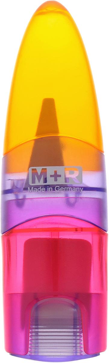 M+R Точилка Ellipstick Swing с ластиком цвет оранжевый сиреневый розовый0945-0002_оранжевый, сиреневый, розовыйУдобная точилка в пластиковом корпусе с крышкой M+R Ellipstick Swing предназначена для затачивания карандашей. Острое лезвие точилки обеспечивает высококачественную и точную заточку карандашей. Карандаш затачивается легко и аккуратно, а опилки после заточки остаются в специальном контейнере. Точилка снабжена ластиком, закрывающимся колпачком.