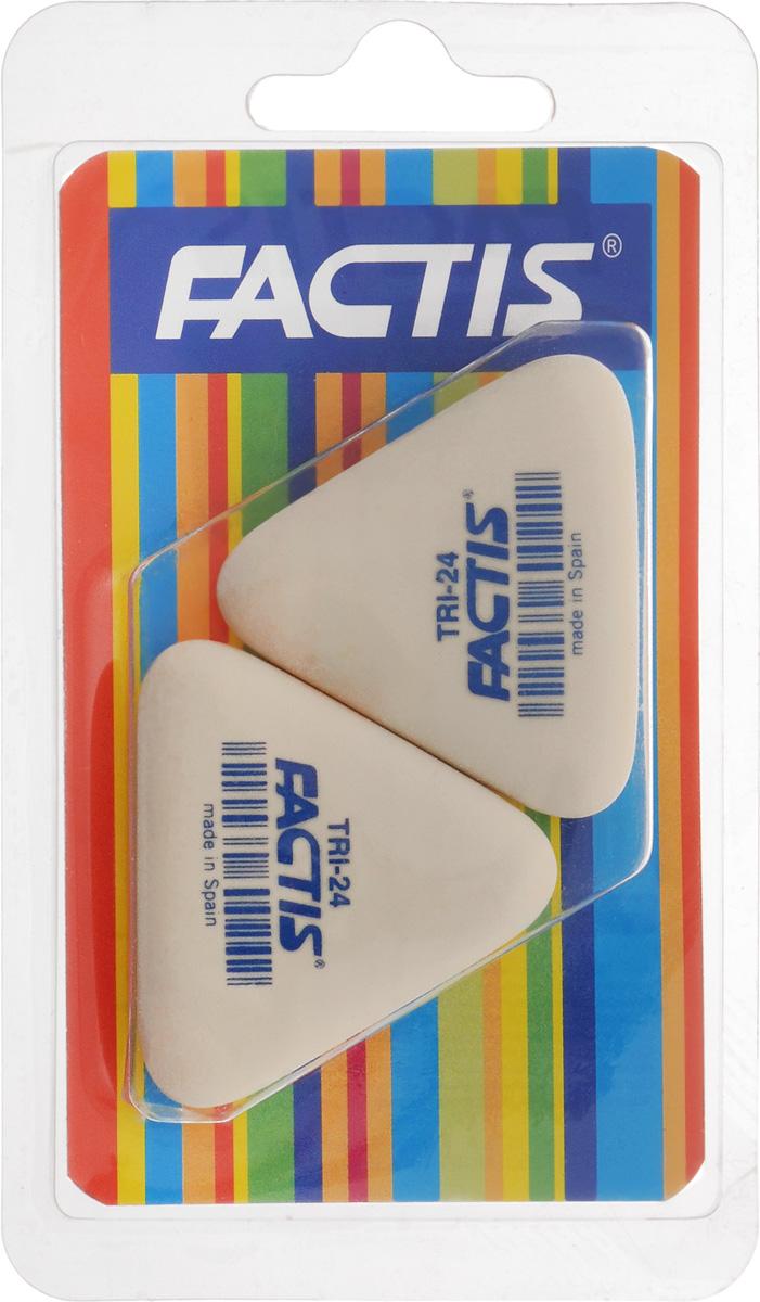 Factis Набор ластиков 2 штTRI-24/2Набор ластиков из синтетического каучука Factis идеально подходит для применения как в школе, так и в офисе. Ластики обеспечивают высокое качество коррекции, не повреждают поверхность бумаги, даже при сильном трении не оставляют следов. Абсолютно безопасны, не токсичны. В упаковке 2 ластика.