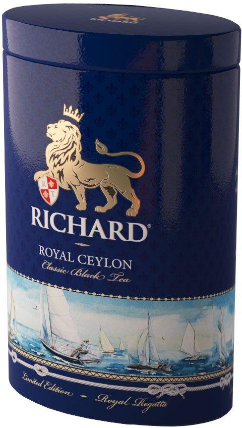 Richard Royal Ceylon черный крупнолистовой чай, 80 г610604Это не просто самый качественный английский чай. Это превосходные классические купажи с необыкновенными изысканными оттенками во вкусе и аромате.