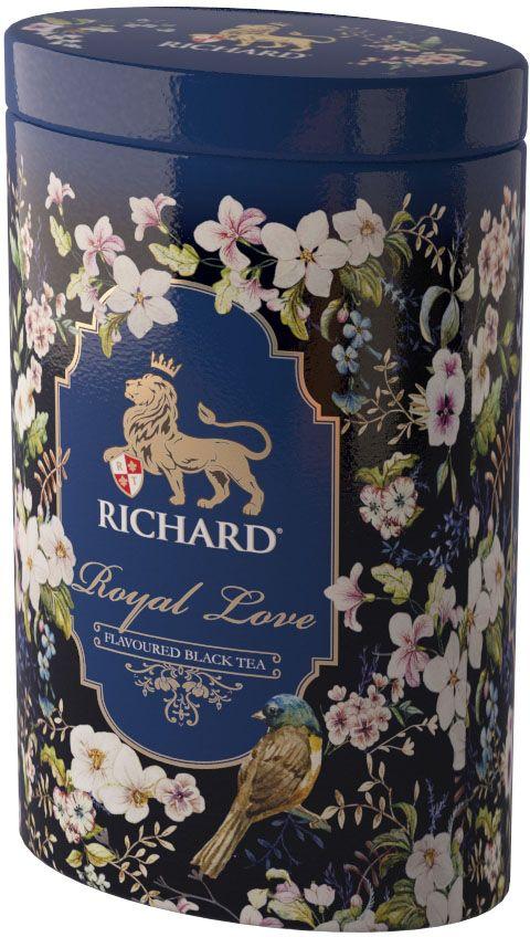 Чай Richard Royal Love черный крупнолистовой чай с добавками, 80 г620330Искренее королевское признание в любви и ароматный бленд черного чая с нотами бергамота и ванили - идеальный подарок на каждый день