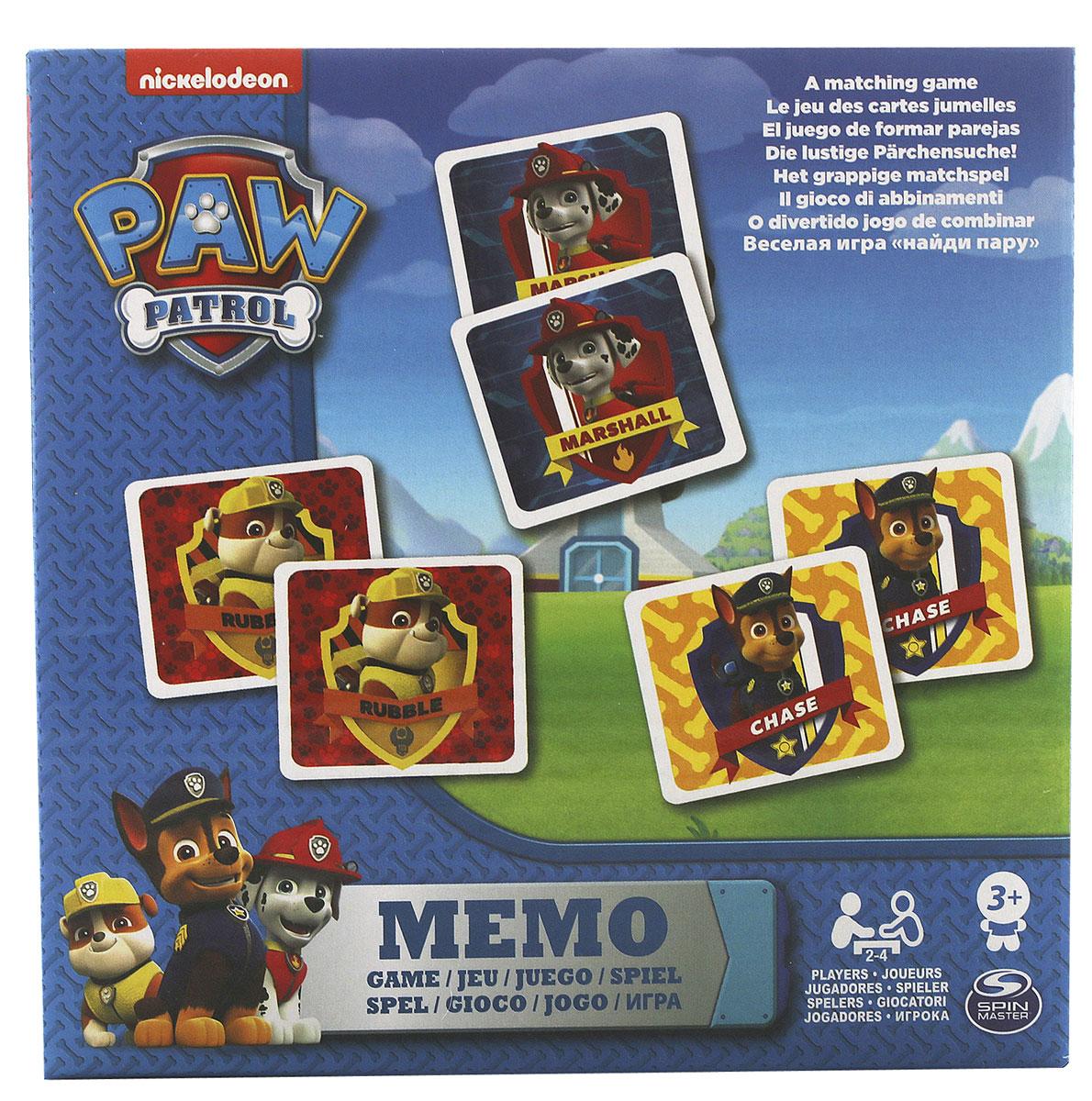 Paw Patrol Обучающая игра Мемо6033326Настольная игра Memory. 48 карточек (24 пары). Отлично развивает память.