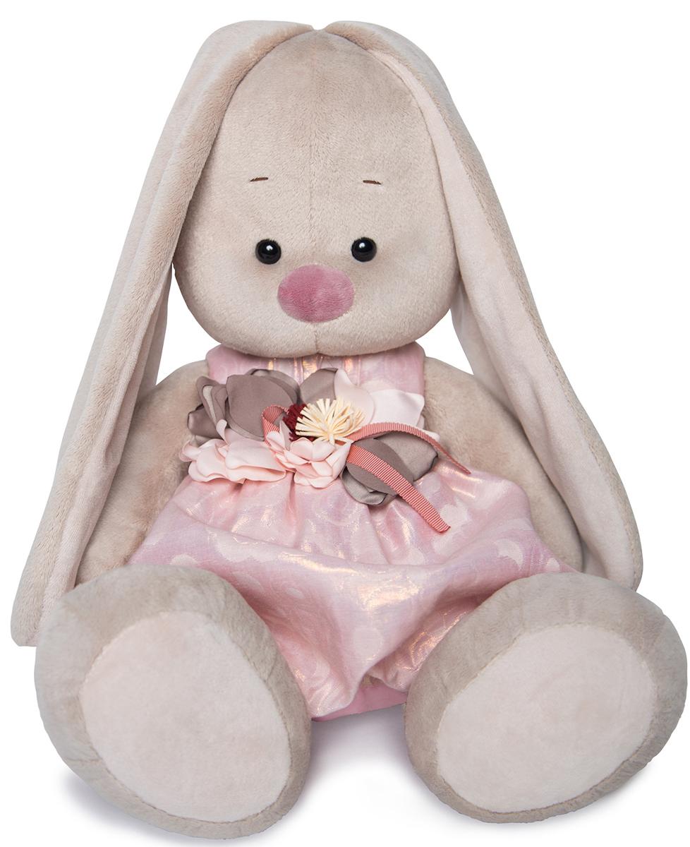 Зайка Ми Большой в розовом платье с цветком 34 смSidL-184