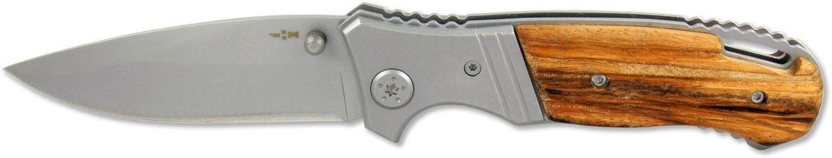 Нож складной Ножемир Чёткий расклад, общая длина 19,7 см. C-174C-174Бренд: Ножемир длина клинка, мм: 84 толщина клинка, мм: 2,7 общая длина, мм: 197 материал рукояти: стабилизированное дерево сталь: 40Х13 твёрдость стали, HRC: 55 — 56 особенность: антиблик; liner lock; клипса