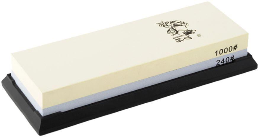 Водный камень (корунд) Ножемир, двухсторонний, доводочный 240 / 1000 грит. T6124WT6124Wполное название: водный камень (корунд) двухсторонний для заточки изделий из стали бренд: Taidea зернистость, грит: 240 ; 1000 масса, гр: 634 размер, см: 19 х 7 х 3,3 упаковка: картонная коробка размер упаковки, см: 20,5 х 7,8 х 3,7 масса в упаковке, гр: 700