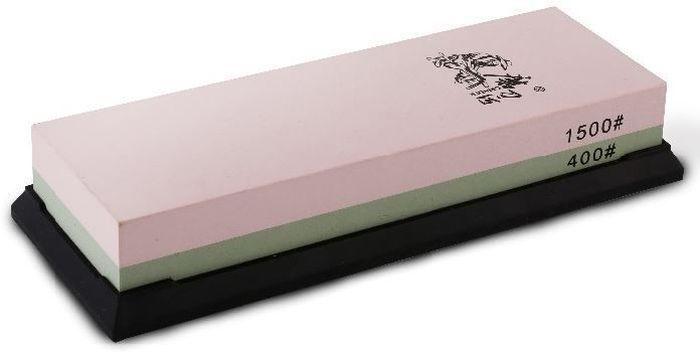 Водный камень (корунд) Ножемир, двухсторонний, доводочный 400 / 1500 грит. T6540WT6540Wполное название: водный камень (корунд) двухсторонний для заточки изделий из стали бренд: Taidea зернистость, грит: 400 ; 1500 масса, гр: 623 размер, см: 19 х 7 х 3,3 упаковка: картонная коробка размер упаковки, см: 20,5 х 7,8 х 3,7 масса в упаковке, гр: 680