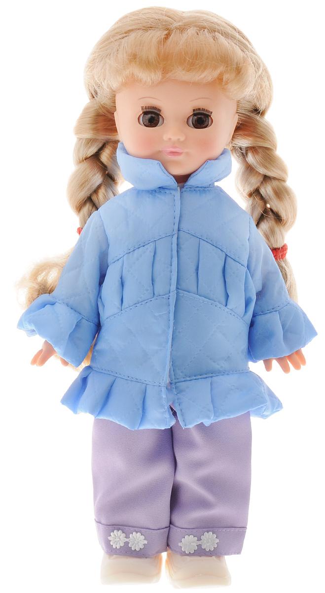 Весна Кукла озвученная Олеся цвет одежды голубой фиолетовыйВ196/о_голубой, фиолетовыйМилашка Весна Олеся понравится любой девочке. Игрушка оснащена звуковым модулем, благодаря которому умеет произносить несколько фраз, среди которых присутствуют: Мама, Почитай мне книжку, Давай поиграем, Есть хочу и другие. Длинные волосы Олеси похожи на настоящие, они позволяют производить какие угодно манипуляции с образом куклы: ее можно причесывать, делать ей укладки. Олеся - обладательница чудесного многослойного наряда, который состоит из курточки, брюк, трикотажной блузки и туфелек. Вся одежда снимается, а продуманная конструкция куклы позволяет укладывать ее спать, ставить на ножки и усаживать. Милая игрушка станет лучшей подружкой для девочки и научит ребенка доброте и заботе о других. Для работы игрушки рекомендуется докупить 3 батарейки LR44/AG13/СЦ357 (товар комплектуется демонстрационными).
