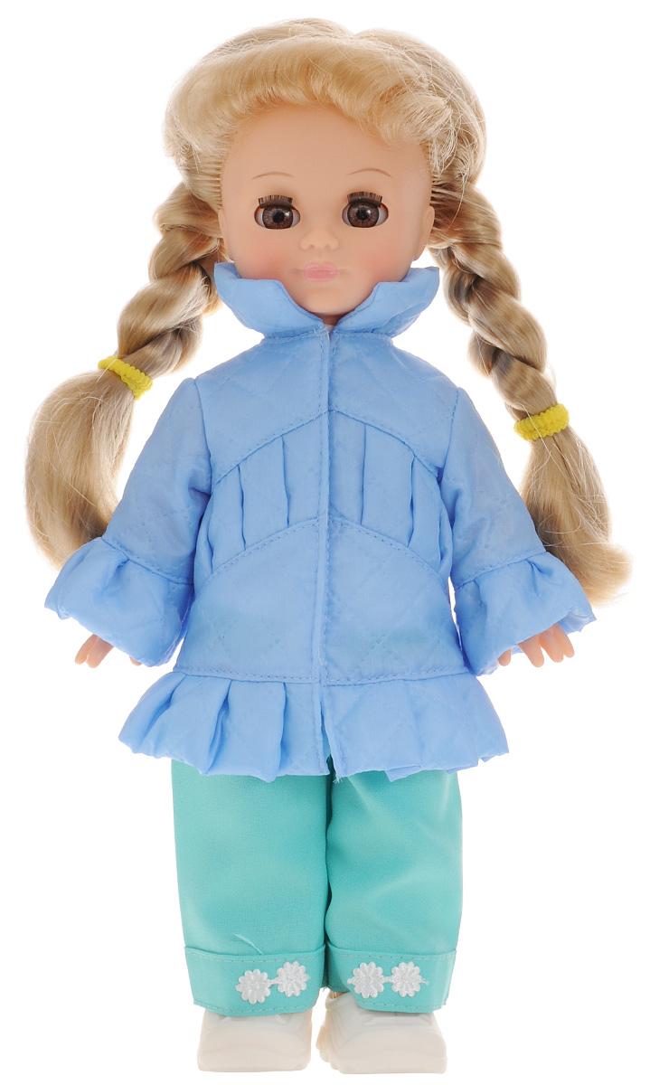 Весна Кукла озвученная Олеся цвет одежды голубой бирюзовыйВ196/о_голубой, бирюзовыйКукла Весна Олеся входит в серию Моя любимая кукла. Олеся - обладательница чудесного многослойного наряда, который состоит из очень женственной курточки, брюк, трикотажной блузки и ботиночек. Вся одежда снимается, а продуманная конструкция куклы позволяет укладывать ее спать, ставить на ножки и усаживать. У куклы глубокие карие глаза и роскошные светло-русые косы. Олеся может закрывать глазки и разговаривать. При нажатии на звуковое устройство, вставленное в спинку, кукла произносит различные фразы: Мама; Почитай мне книжку; Давай поиграем; Есть хочу; Хочу спать. Наличие элементов одежды, которые легко снимаются и надеваются, разнообразят возможности сюжетно-ролевых игр с этой куклой, в процессе которых развивается мелкая моторика и творческое воображение ребенка. Для работы игрушки рекомендуется докупить 3 батарейки LR44/AG13/СЦ357 (товар комплектуется демонстрационными).