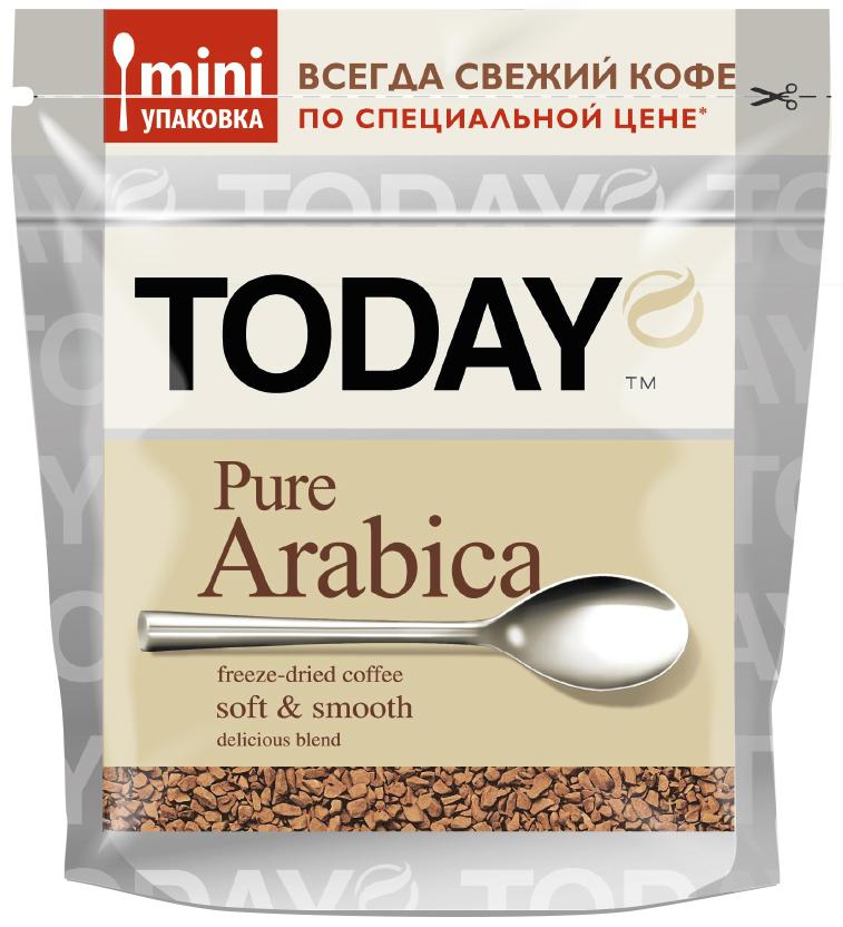 Today Аrabica кофе растворимый, 37,5 г5060300570493Mini упаковка TODAY специально разработана для сохранения свежести и аромата, кофе просто не успевает утратить своих качеств, поэтому каждая чашка совершенная, как первая.