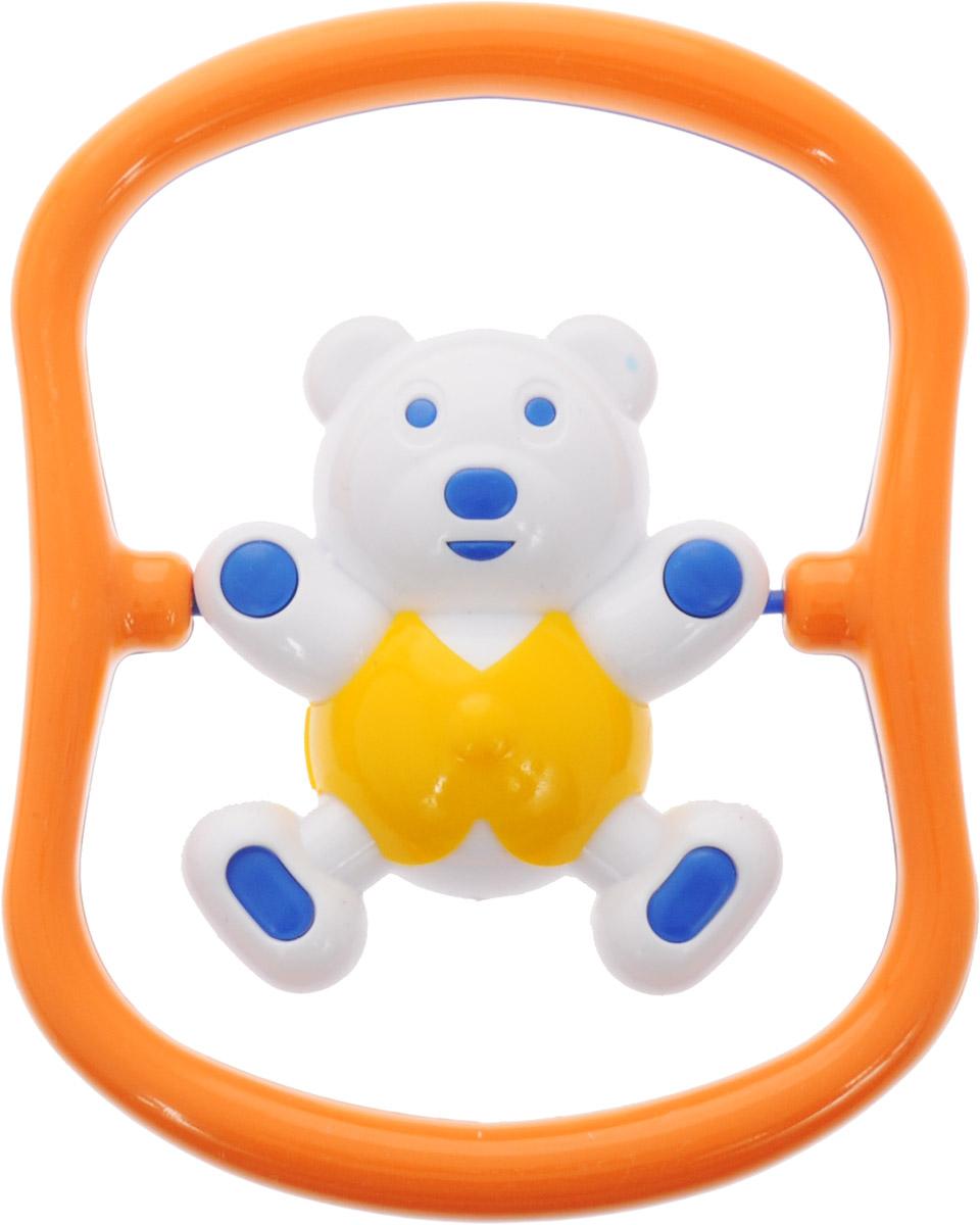 Аэлита Погремушка Мишка-баюн цвет синий оранжевый желтый2С420_синий, оранжевый, желтыйПогремушка Аэлита Мишка-баюн поможет малышу научиться фокусировать внимание. Игрушка развивает мелкую моторику и слуховое восприятие. Погремушка выполнена в ярком дизайне в виде забавного медвежонка в рамке. Фигурка поворачивается вокруг своей оси и гремит. Удобная форма игрушки позволит малышу с легкостью взять и держать ее, а приятный звук погремушки порадует и заинтересует его. Игрушка поможет развить цветовое восприятие, тактильные ощущения и мелкую моторику рук ребенка, а элемент погремушки поспособствует развитию слуха. Игрушка изготовлена из безопасных материалов с использованием пищевых красителей.
