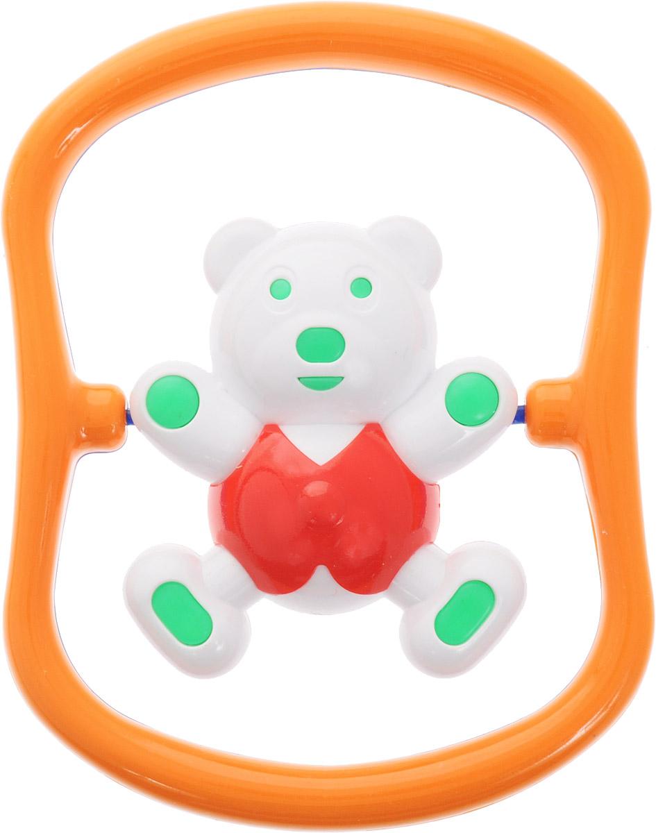 Аэлита Погремушка Мишка-баюн цвет синий оранжевый красный2С420_синий, оранжевый, красныйПогремушка Аэлита Мишка-баюн поможет малышу научиться фокусировать внимание. Игрушка развивает мелкую моторику и слуховое восприятие. Погремушка выполнена в ярком дизайне в виде забавного медвежонка в рамке. Фигурка поворачивается вокруг своей оси и гремит. Удобная форма игрушки позволит малышу с легкостью взять и держать ее, а приятный звук погремушки порадует и заинтересует его. Игрушка поможет развить цветовое восприятие, тактильные ощущения и мелкую моторику рук ребенка, а элемент погремушки поспособствует развитию слуха. Игрушка изготовлена из безопасных материалов с использованием пищевых красителей.
