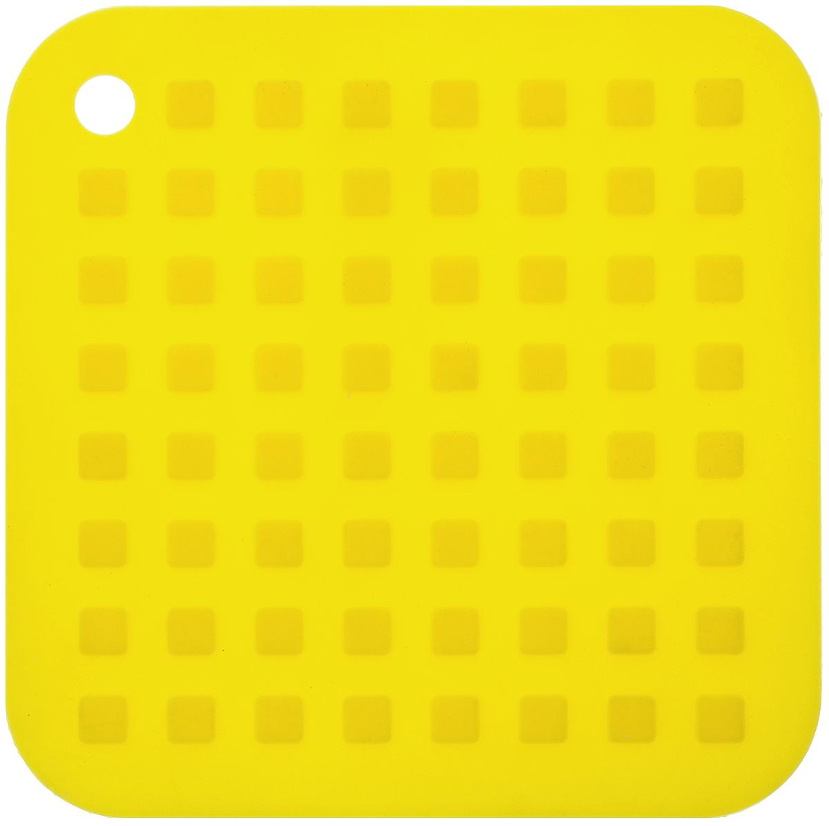Подставка под горячее Mayer & Boch, силиконовая, цвет: желтый, 16 х 16 см20058_желтыйПодставка под горячее Mayer & Boch изготовлена из силикона и оформлена рельефом в виде квадратов. Материал позволяет выдерживать высокие температуры и не скользит по поверхности стола. Каждая хозяйка знает, что подставка под горячее - это незаменимый и очень полезный аксессуар на каждой кухне. Ваш стол будет не только украшен яркой и оригинальной подставкой, но и сбережен от воздействия высоких температур.