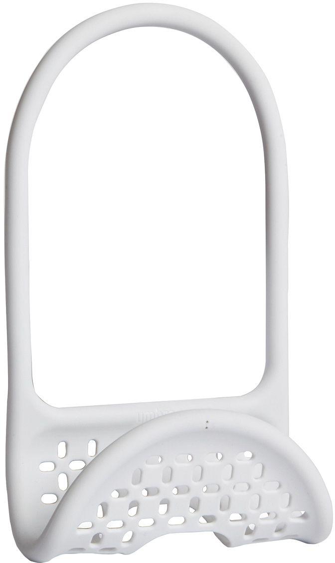 Органайзер для раковины Umbra Sling, цвет: белый1004294-660Уникальный органайзер для раковины из металлической проволоки с пластиковым покрытием. Ручка удобно гнётся и позволяет вешать органайзер на водопроводный кран или боковую сторону раковины.Подходит для хранения губок, щёток и прочих приспособлений для чистки и мытья. Перфорация даёт воздуху свободно циркулировать, поэтому губки и щётки будут сохнуть быстрее. Дизайнеры Eugenie de Loynes и Jordan Murphy