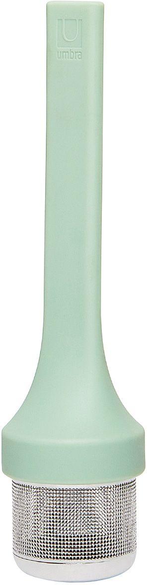 Емкость для заваривания Umbra Mytea, цвет: мятный480547-473Удобная емкость для заваривания чая. Ситечко изготовлено из нержавеющей стали, рукоятка — из гибкого силикона. Design: Eugenie De Loynes