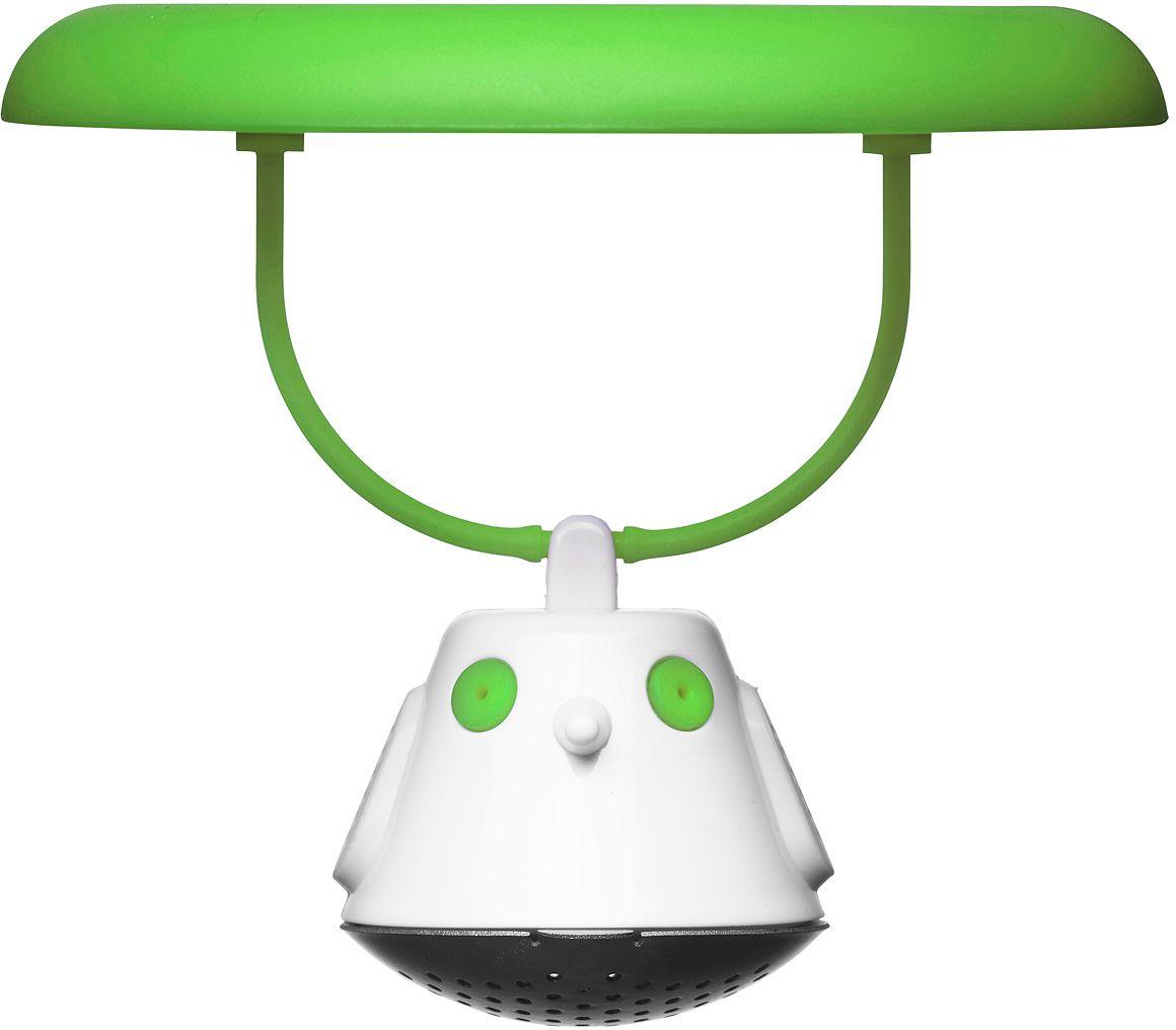 Емкость для заваривания чая QDO Birdie Swing, с крышкой, цвет: зеленый567393Оригинальная емкость для заваривания чая в виде небольшой птички. Снабжена крышкой для кружки, с помощью которой можно быстро и безопасно приготовить любимый напиток. Одним легким движением откройте стальной фильтр, наполните его необходимым количеством чайных листьев, так же легко закройте и поместите в горячую воду. Крышка не только поможет чаю завариться быстрее, но и убережет ваши пальцы от возможного нагревания. Когда чай готов, просто поднимите крышку, переверните и положите на стол. Вся жидкость с заварника будет стекать в нее, как в поднос - очень удобно. Емкость можно мыть в посудомоечной машине. Материал - нержавеющая сталь и пластик без содержания бисфенола-А.